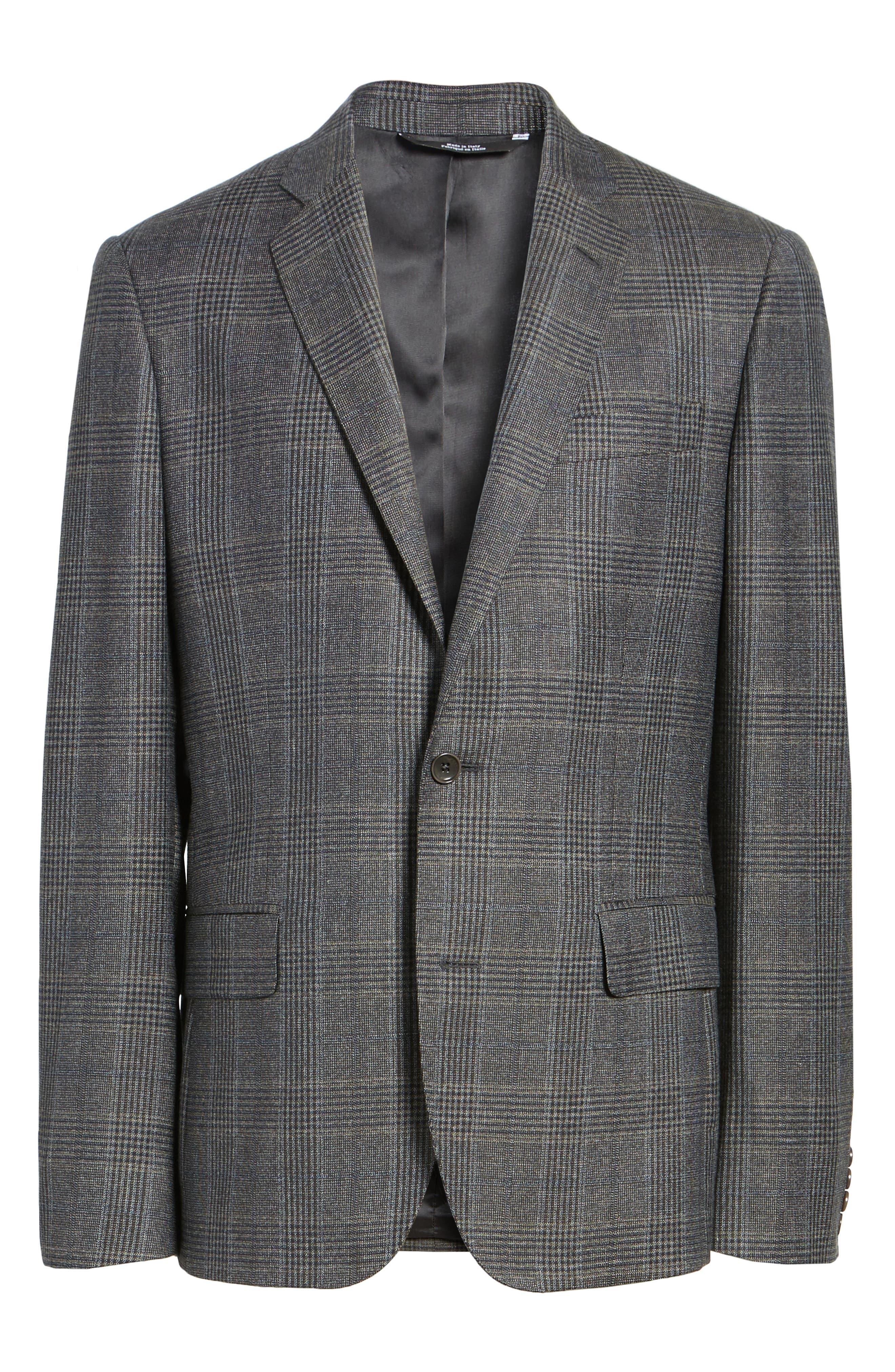 Classic Fit Plaid Wool Sport Coat,                             Alternate thumbnail 5, color,                             099