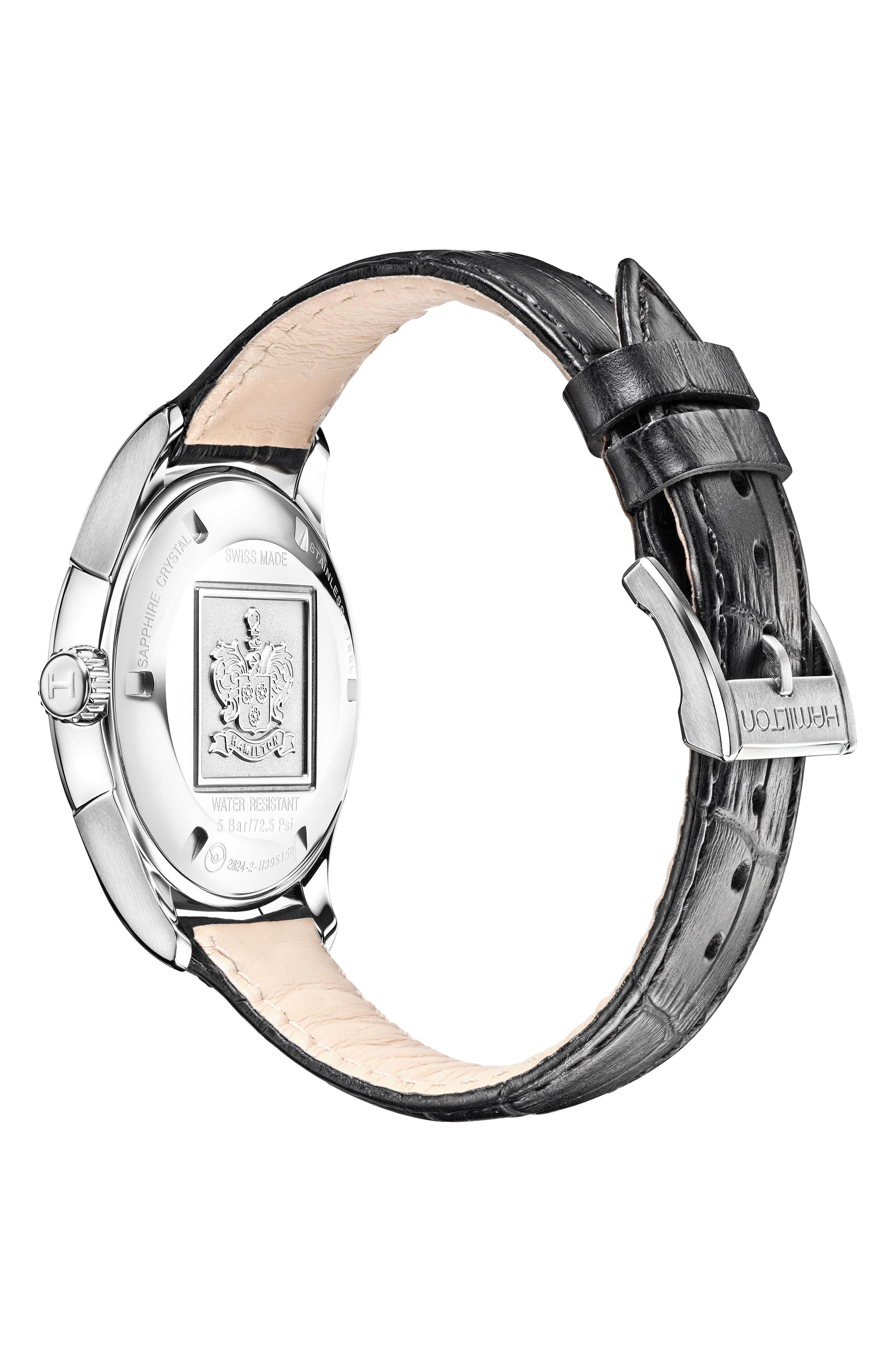 Jazzmaster Gent Open Heart Automatic Bracelet Watch, 42mm,                             Alternate thumbnail 2, color,                             SILVER/ BLUE/ SILVER
