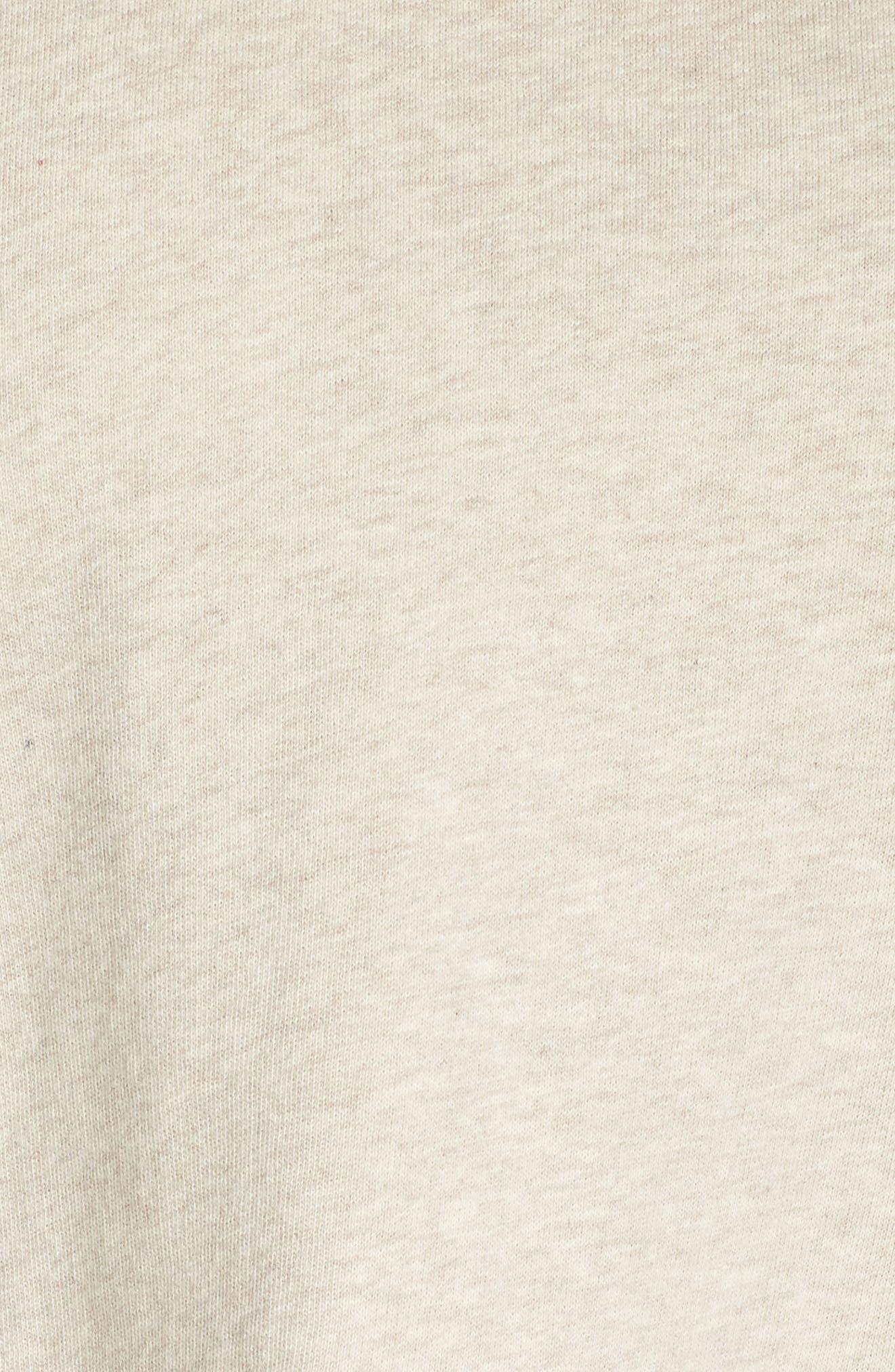 ruffle hoodie,                             Alternate thumbnail 6, color,                             OATMEAL MELANGE