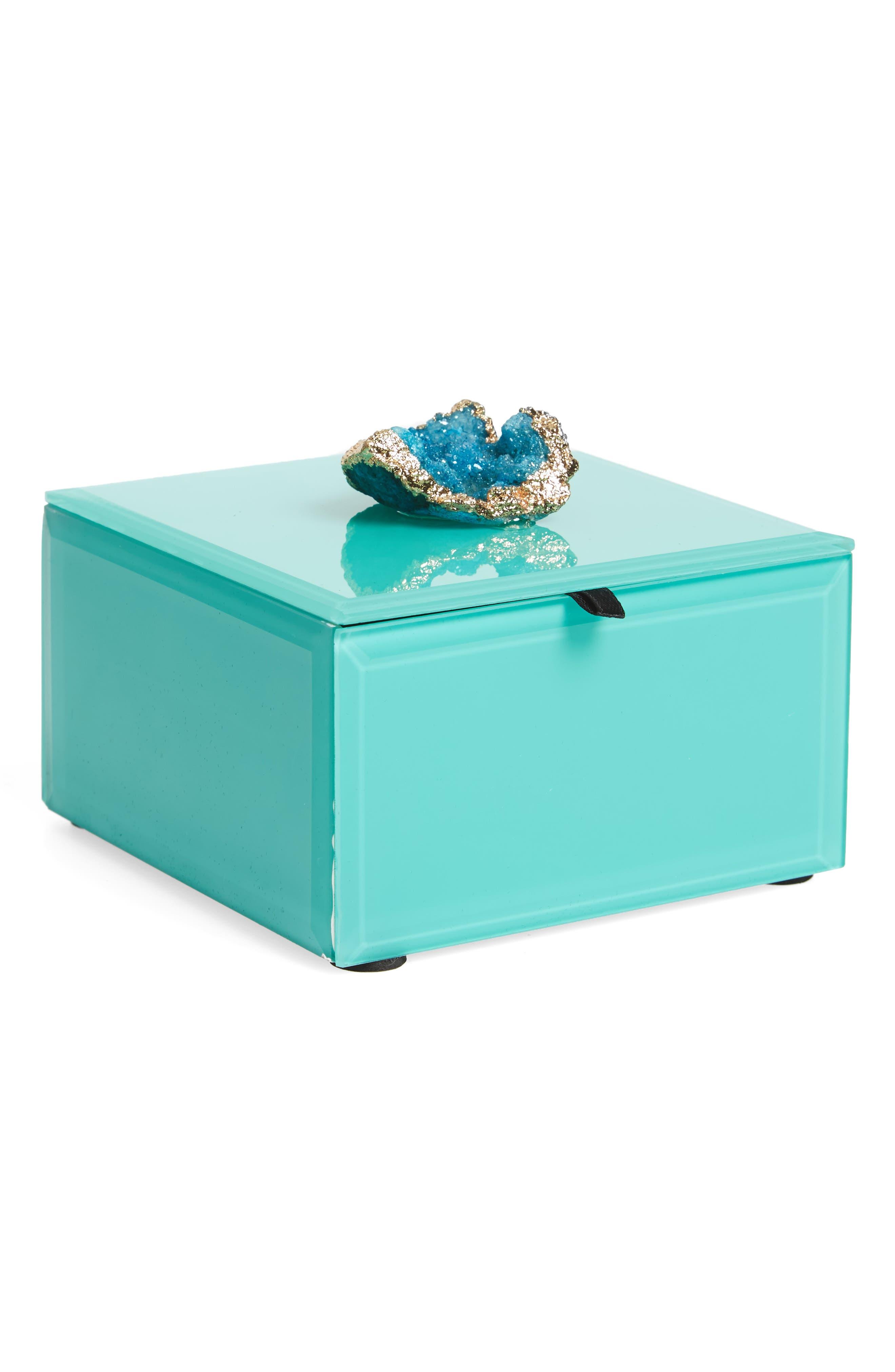Peacock Agate Jewelry Box,                             Main thumbnail 1, color,
