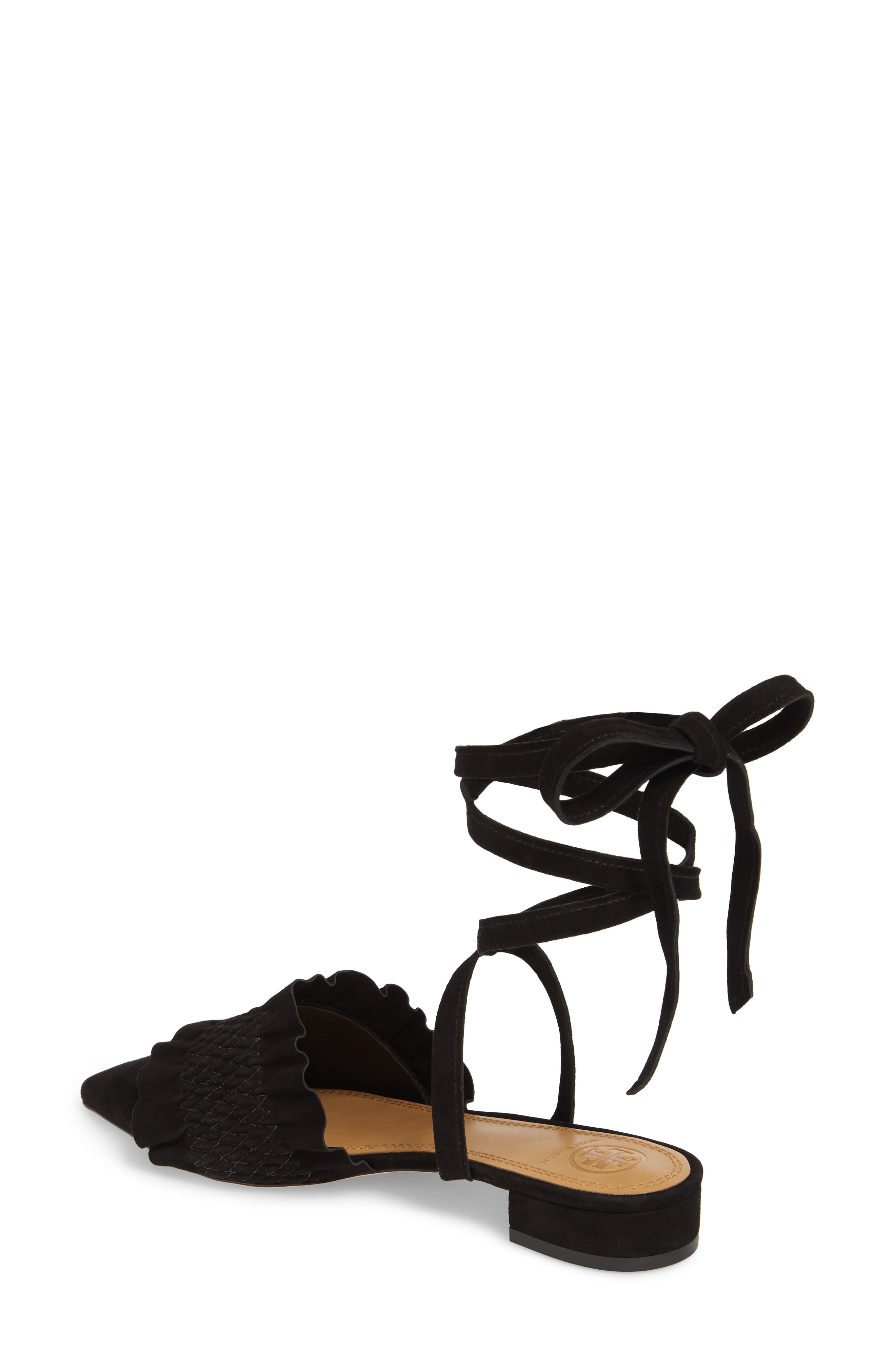 Angelica Ankle Wrap Mule,                             Alternate thumbnail 2, color,                             PERFECT BLACK/ PERFECT BLACK