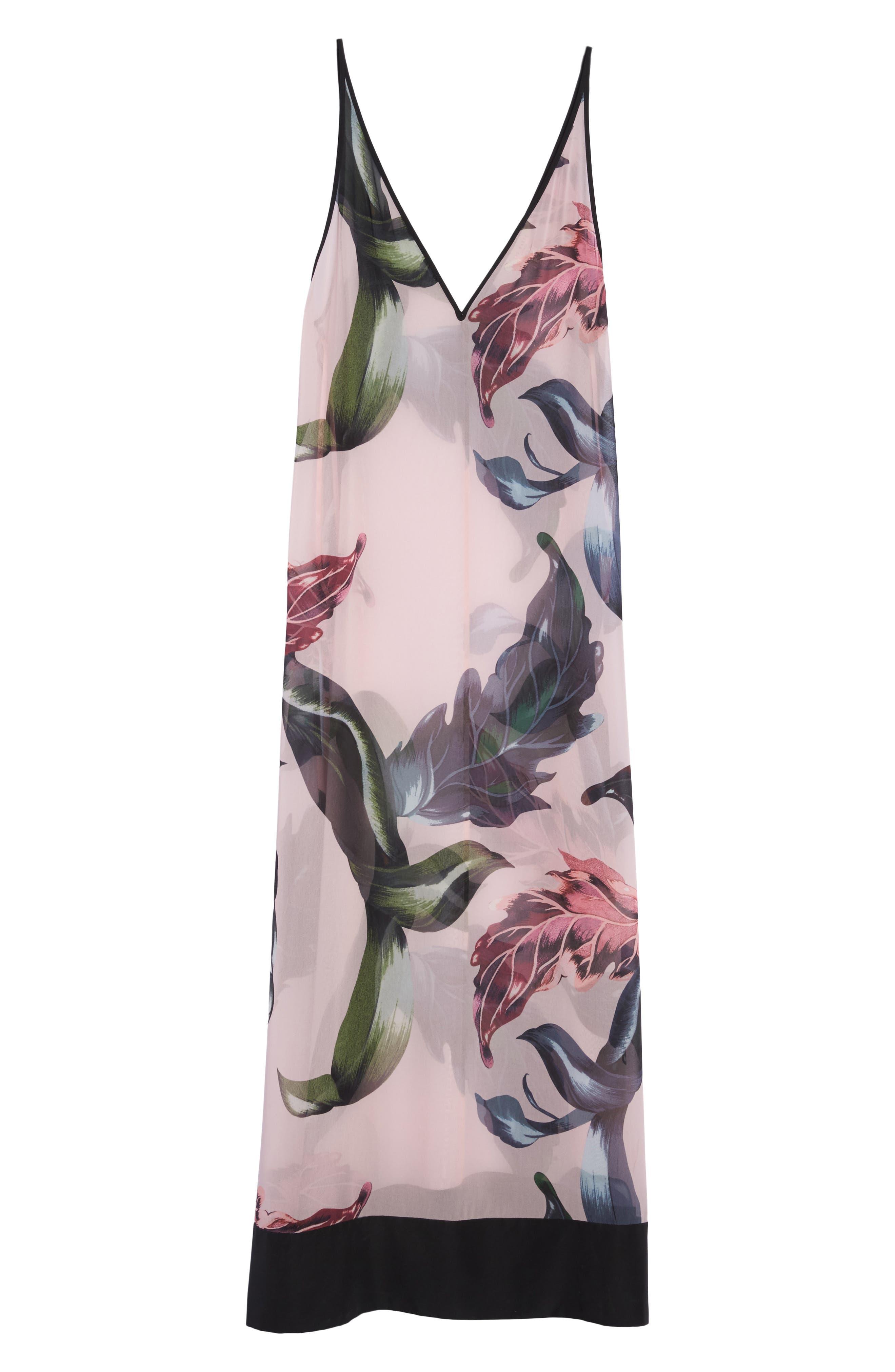 Edela Eden Print Cover-Up Maxi Dress,                             Alternate thumbnail 6, color,                             680