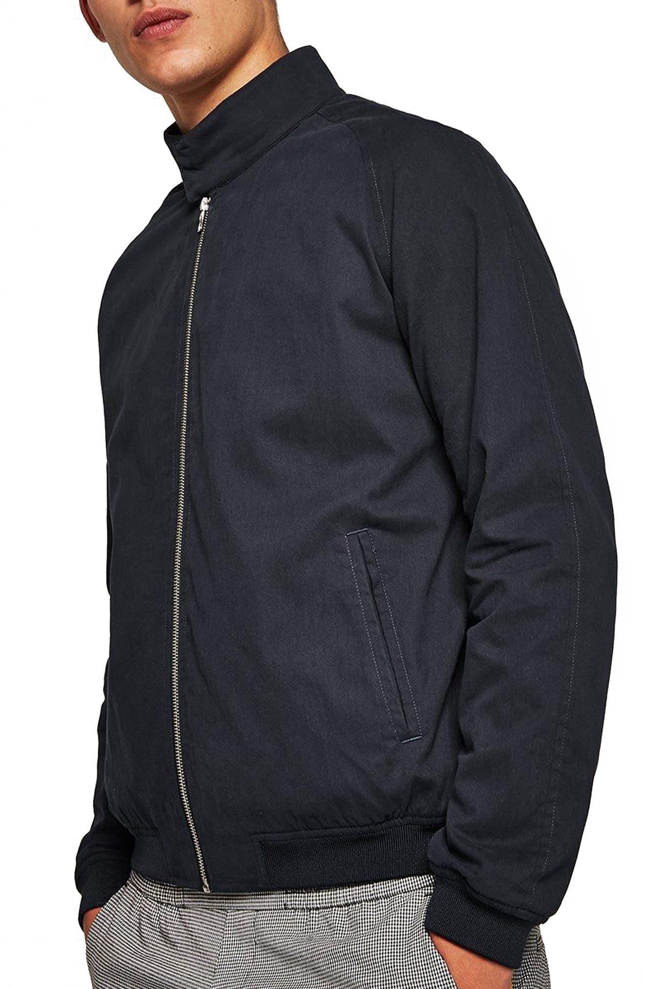 Harrington Jacket,                         Main,                         color, DARK BLUE