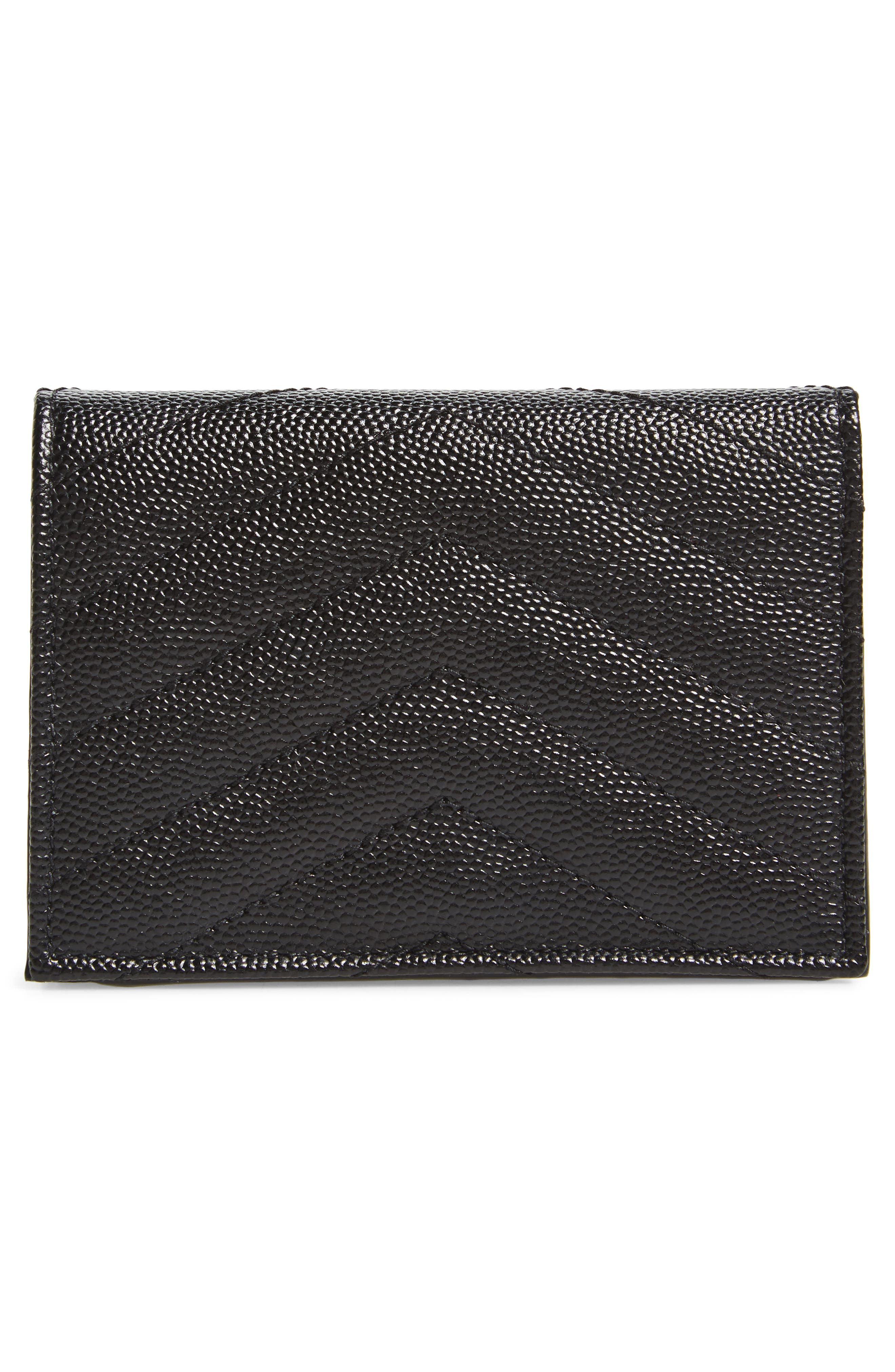 Textured Leather Card Case,                             Alternate thumbnail 4, color,                             001