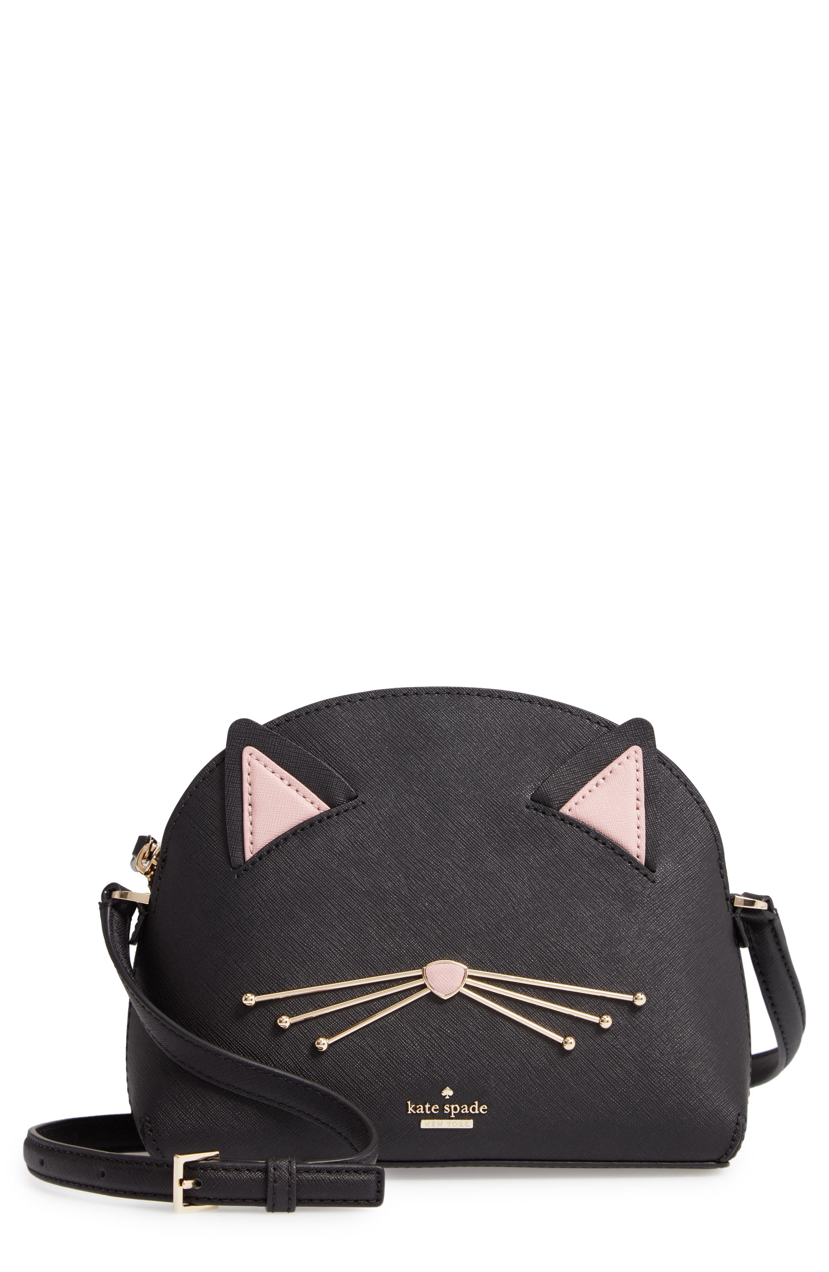 cat's meow - large hilli leather bag, Main, color, 001
