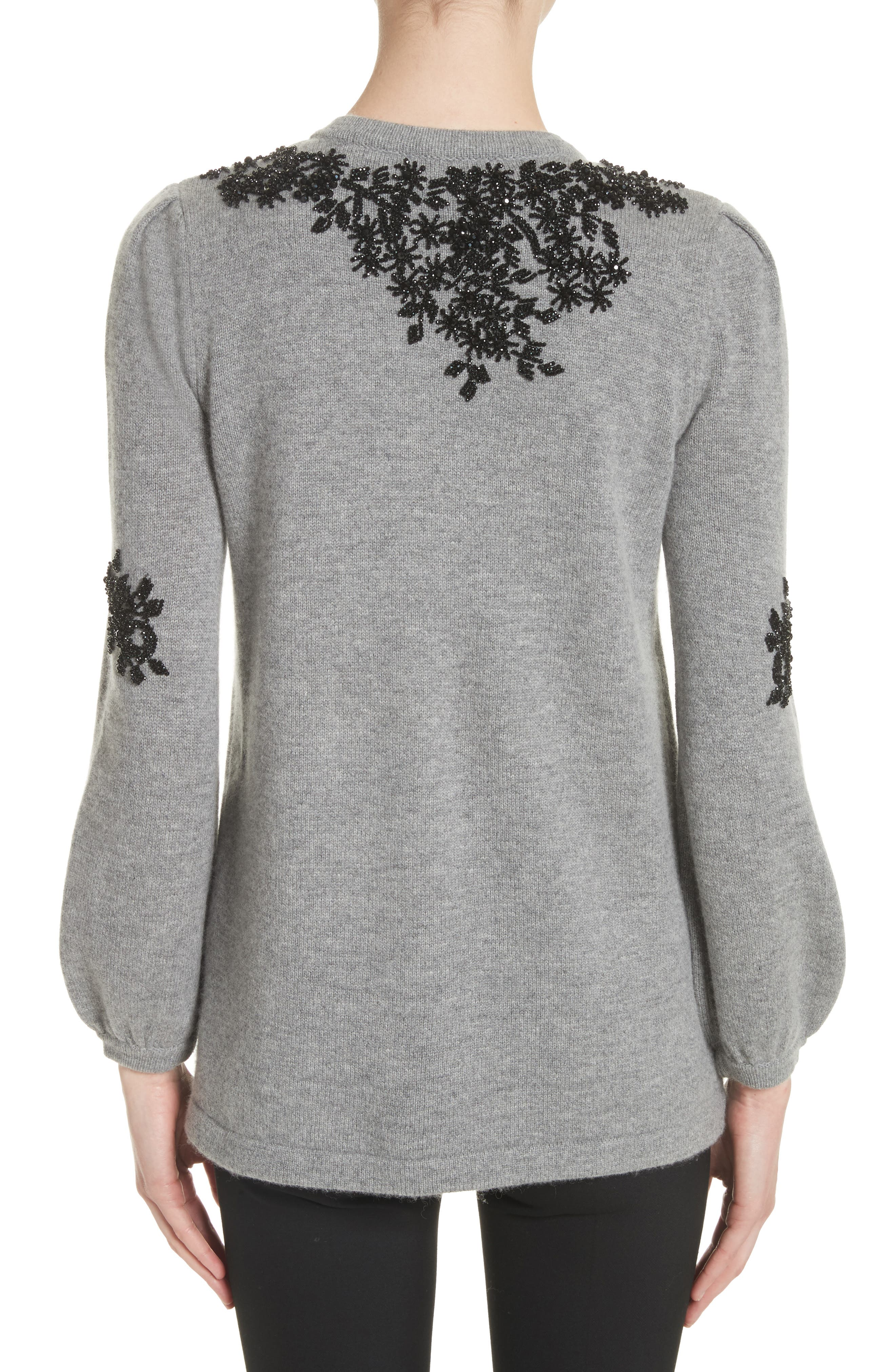 Beaded Wool & Cashmere Sweater,                             Alternate thumbnail 2, color,