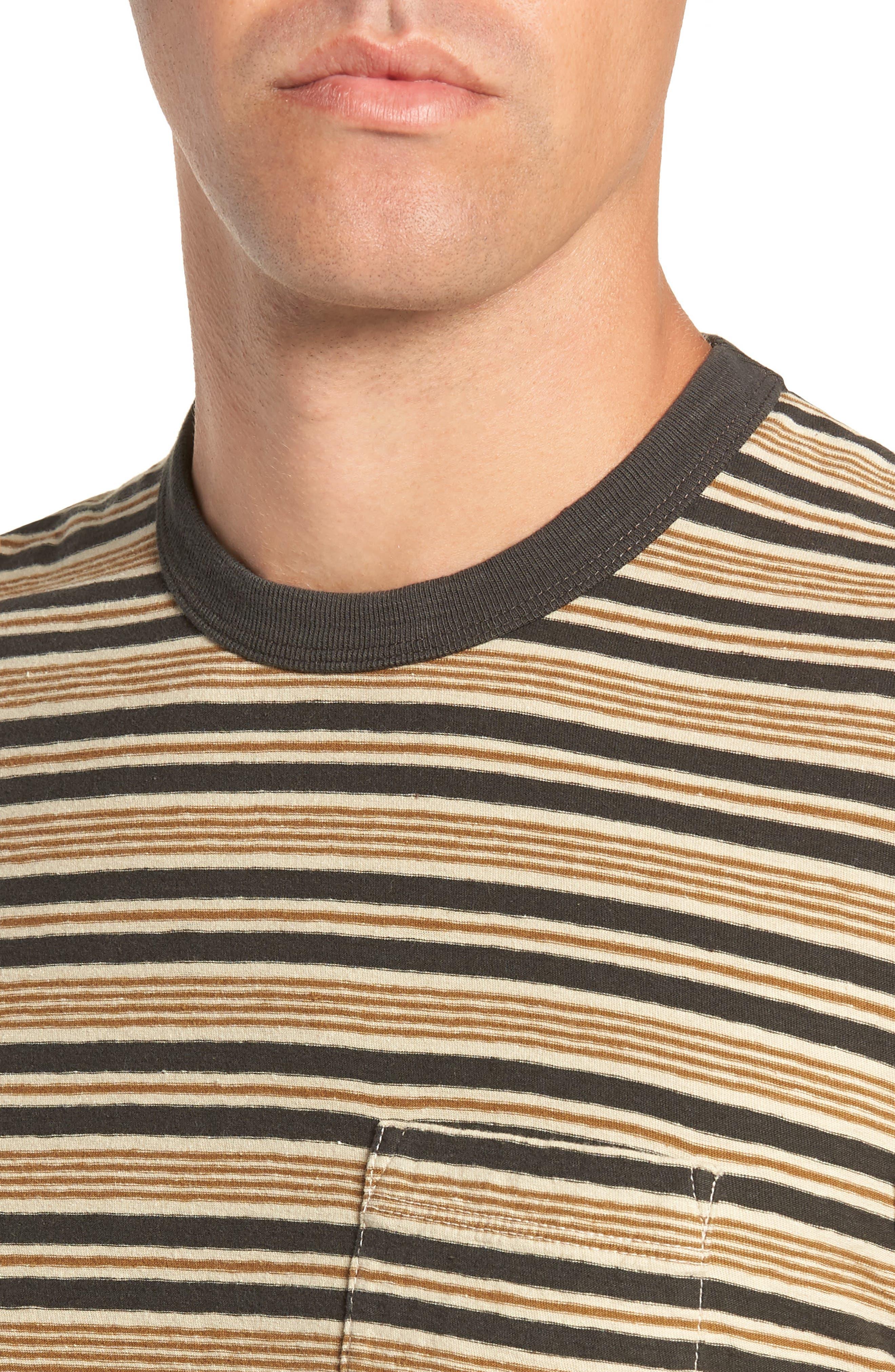 Vintage Stripe Regular Fit Pocket T-Shirt,                             Alternate thumbnail 4, color,                             300