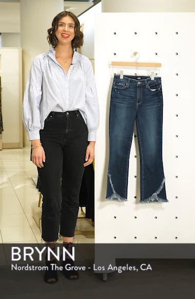 Transcend Vintage - Colette Frayed Crop Flare Jeans, sales video thumbnail