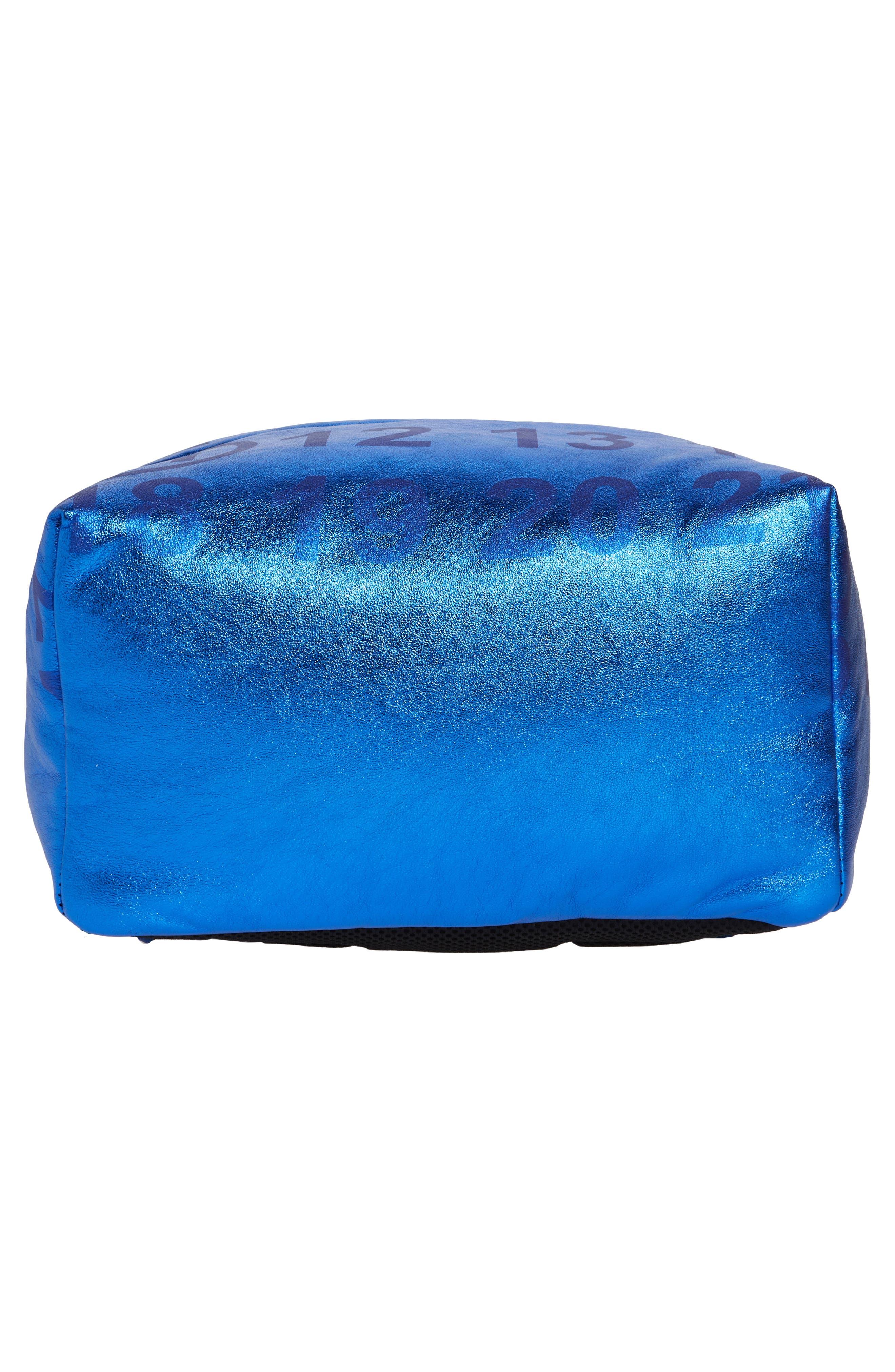 MAISON MARGIELA,                             Medium Number Print Backpack,                             Alternate thumbnail 6, color,                             DAZZLING BLUE