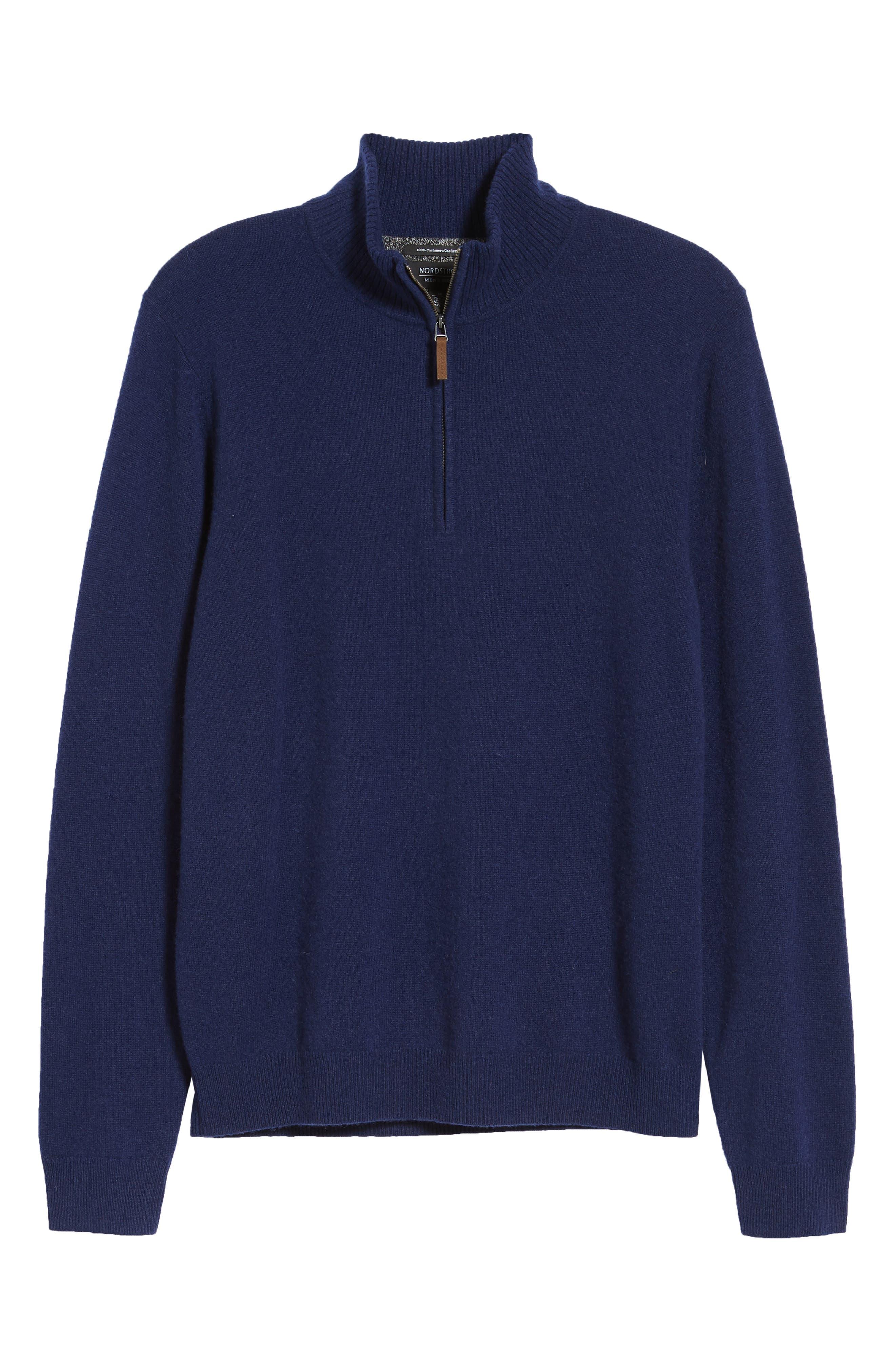Cashmere Quarter Zip Sweater,                             Alternate thumbnail 6, color,                             410