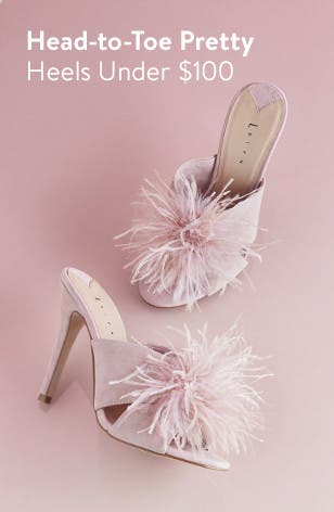 Prom heels under $100.