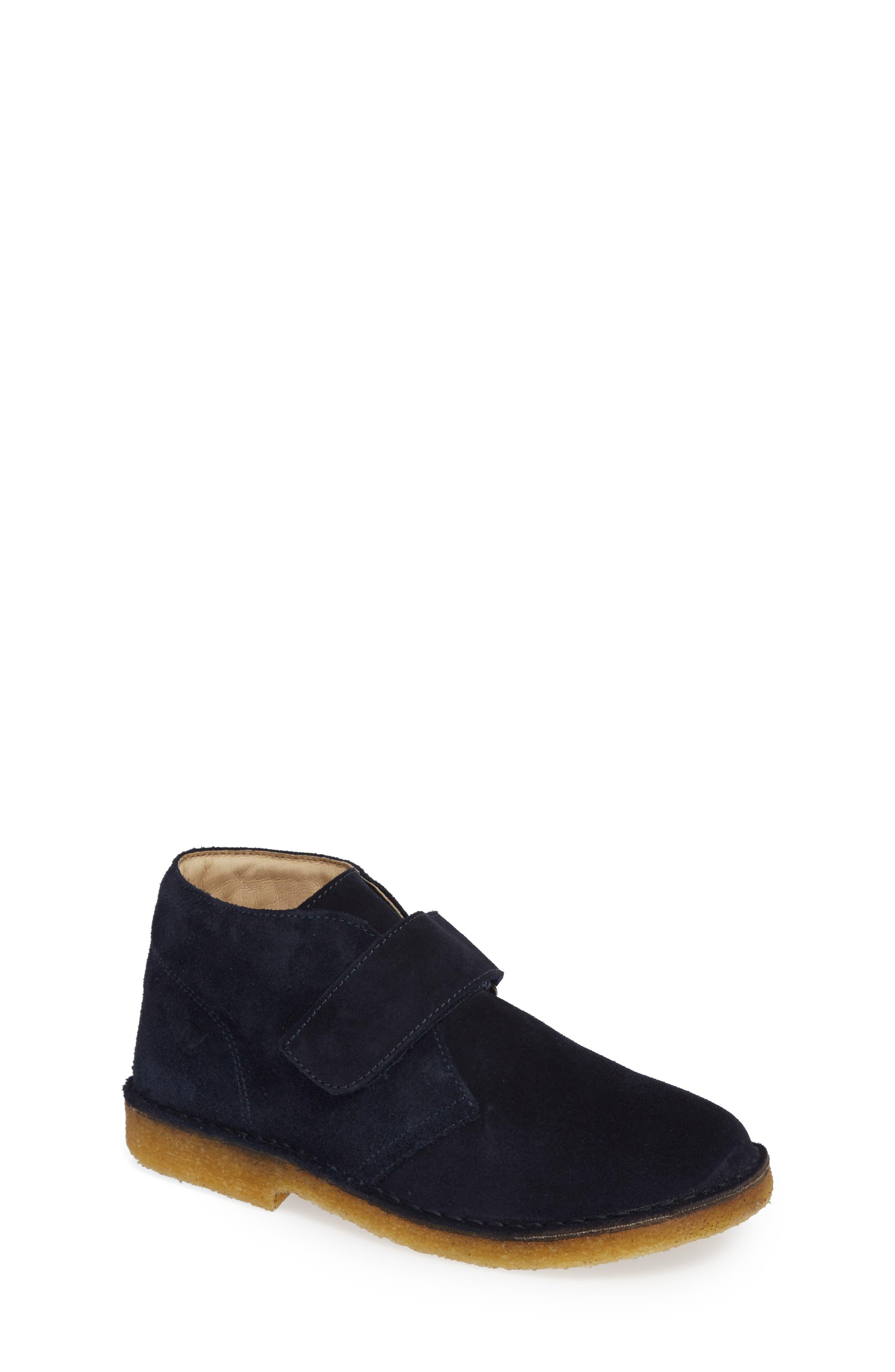 Choco Chukka Boot,                             Main thumbnail 1, color,                             BLUE SUEDE