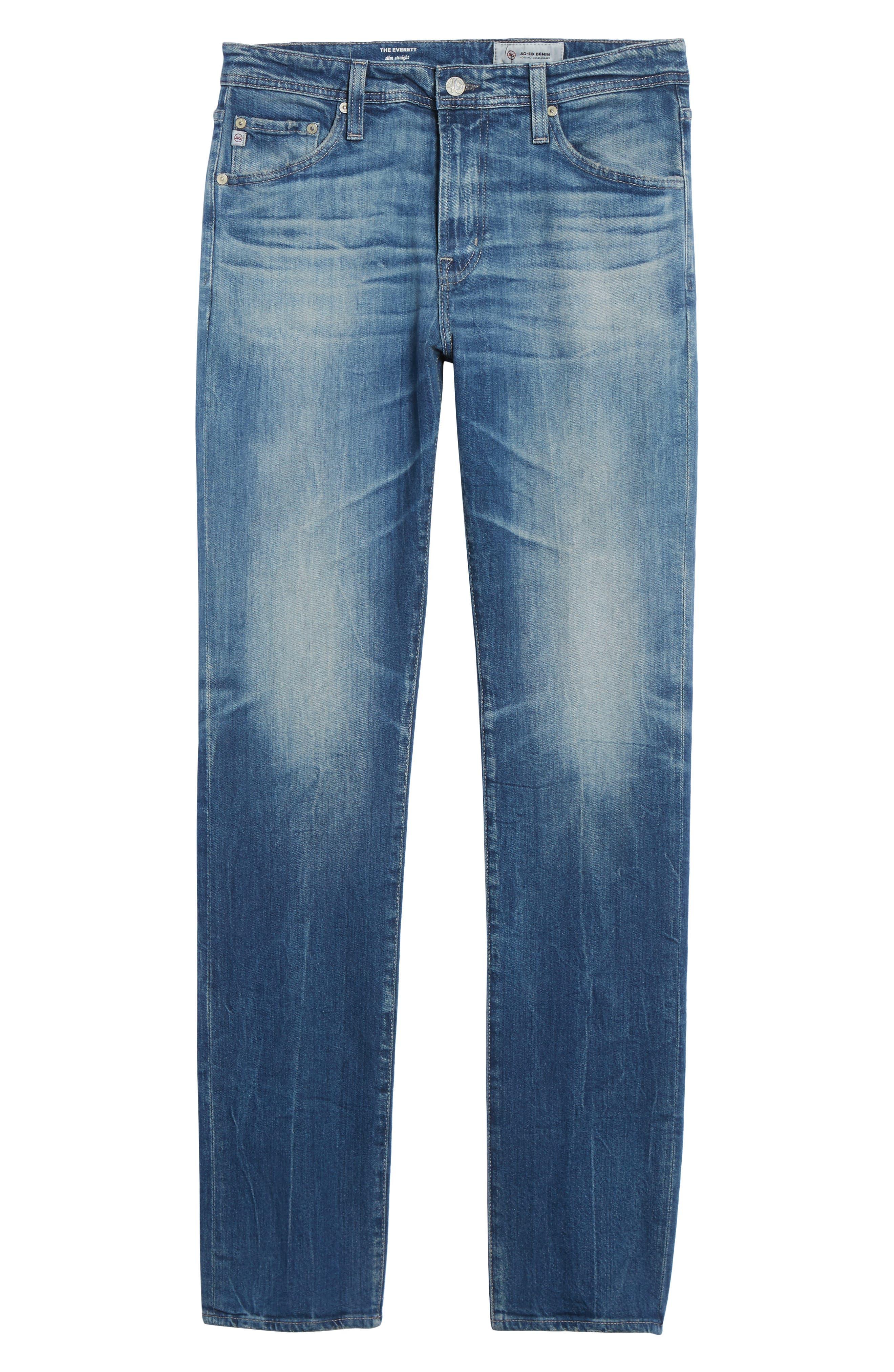 Everett Slim Straight Leg Jeans,                             Alternate thumbnail 6, color,                             429