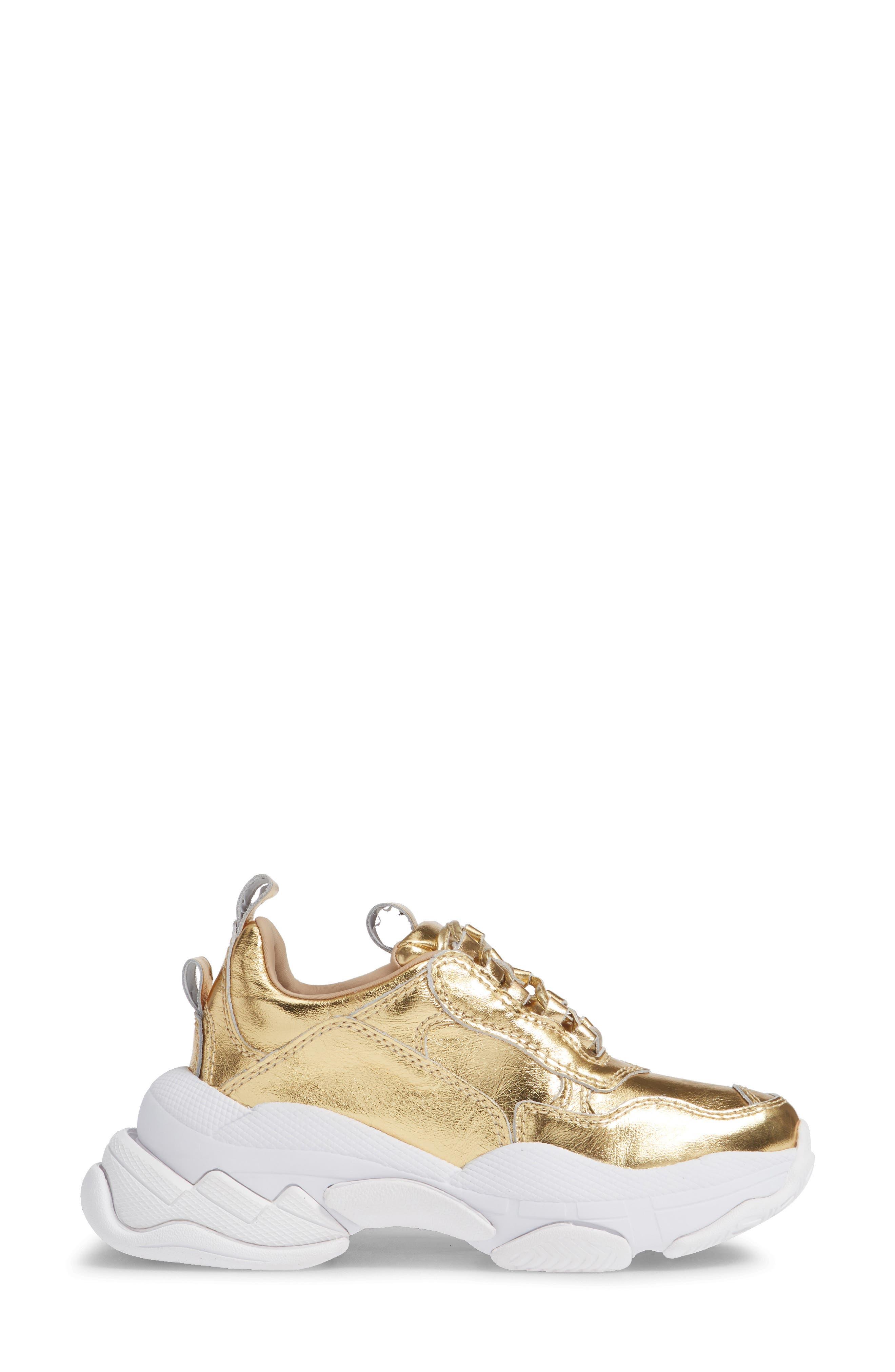 Lo-Fi Sneaker,                             Alternate thumbnail 3, color,                             GOLD CRINKLE