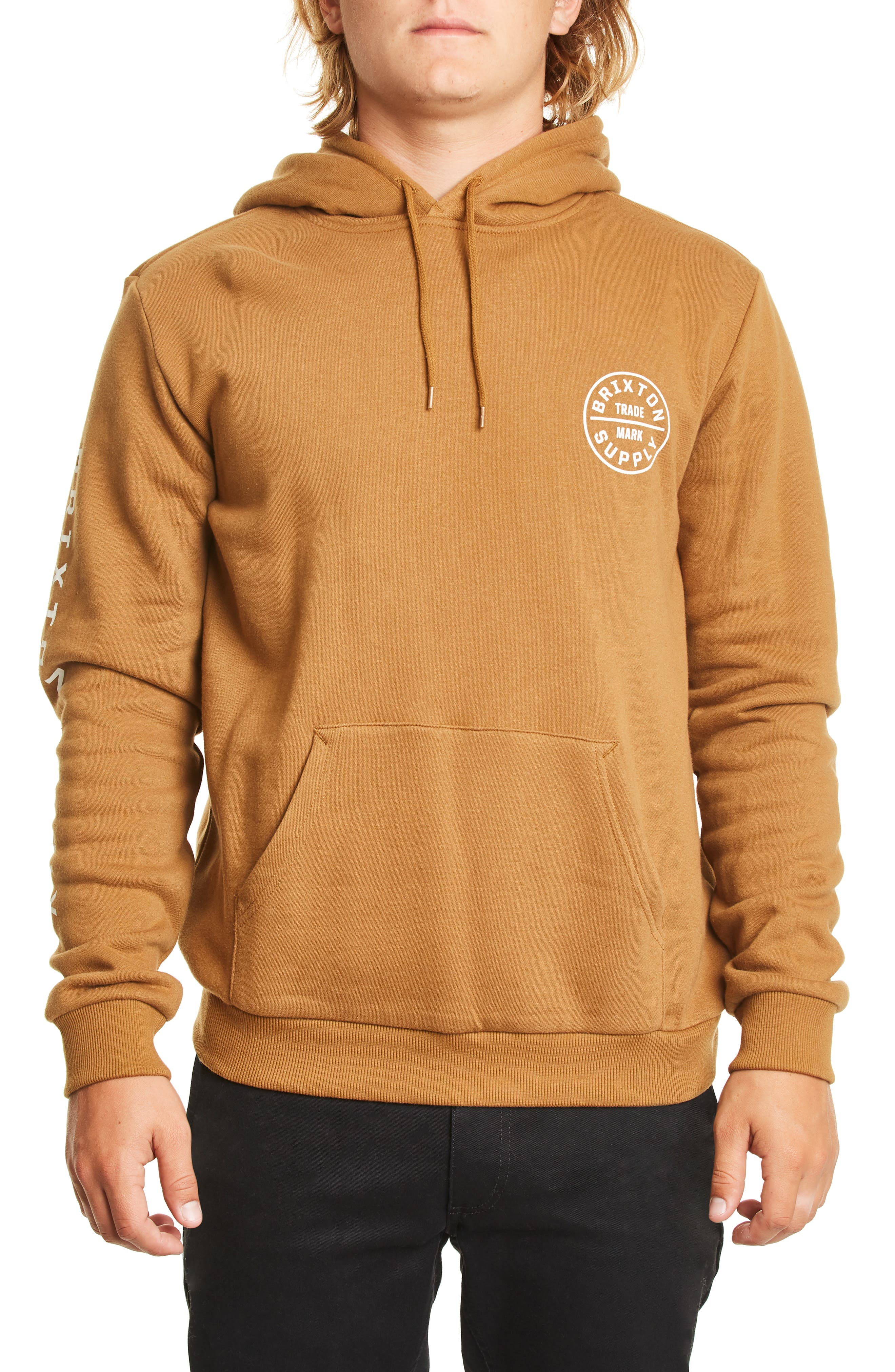 Brixton Oath Ii Hooded Sweatshirt, Brown