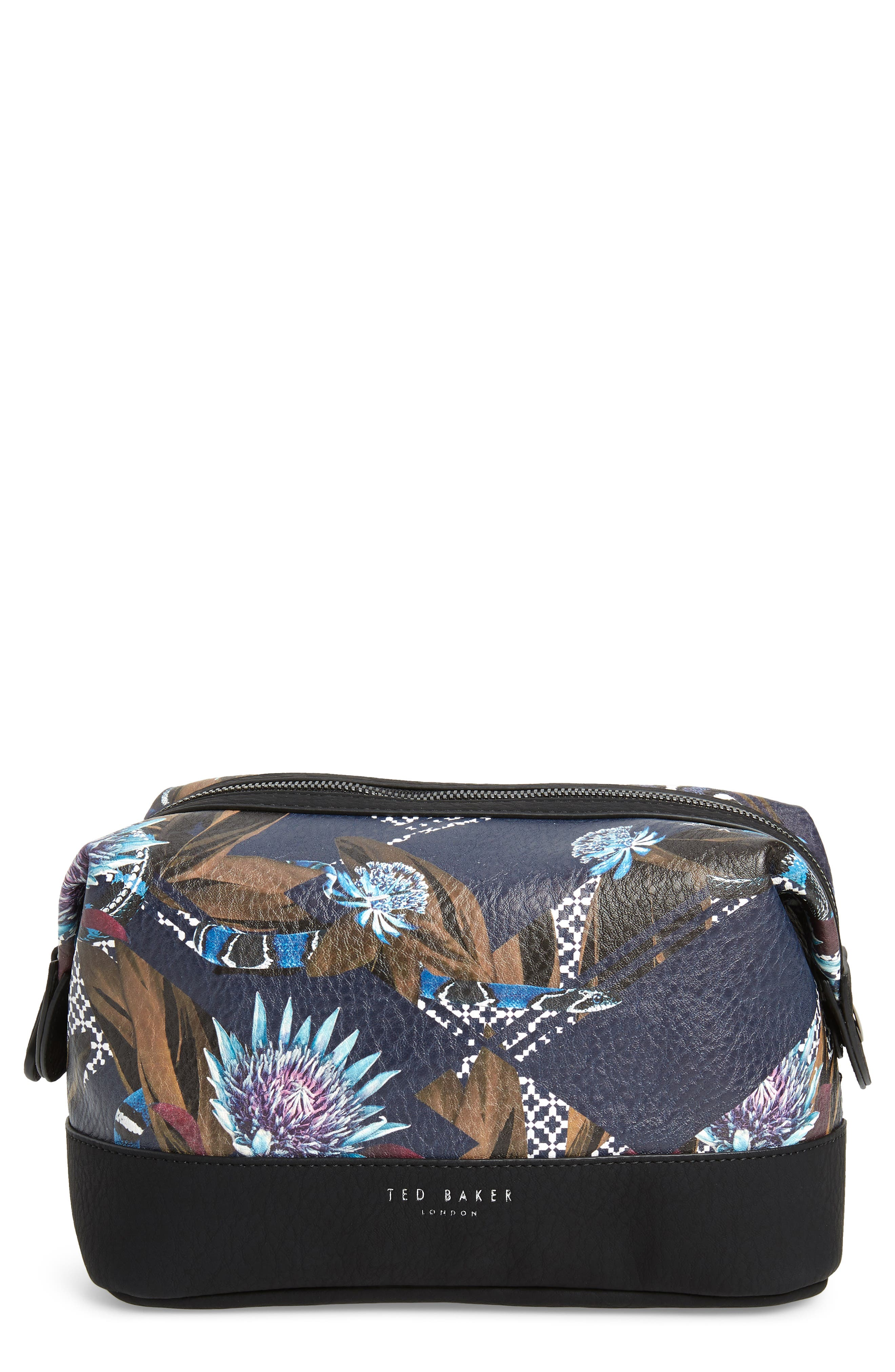 TED BAKER LONDON Print Travel Bag, Main, color, NAVY