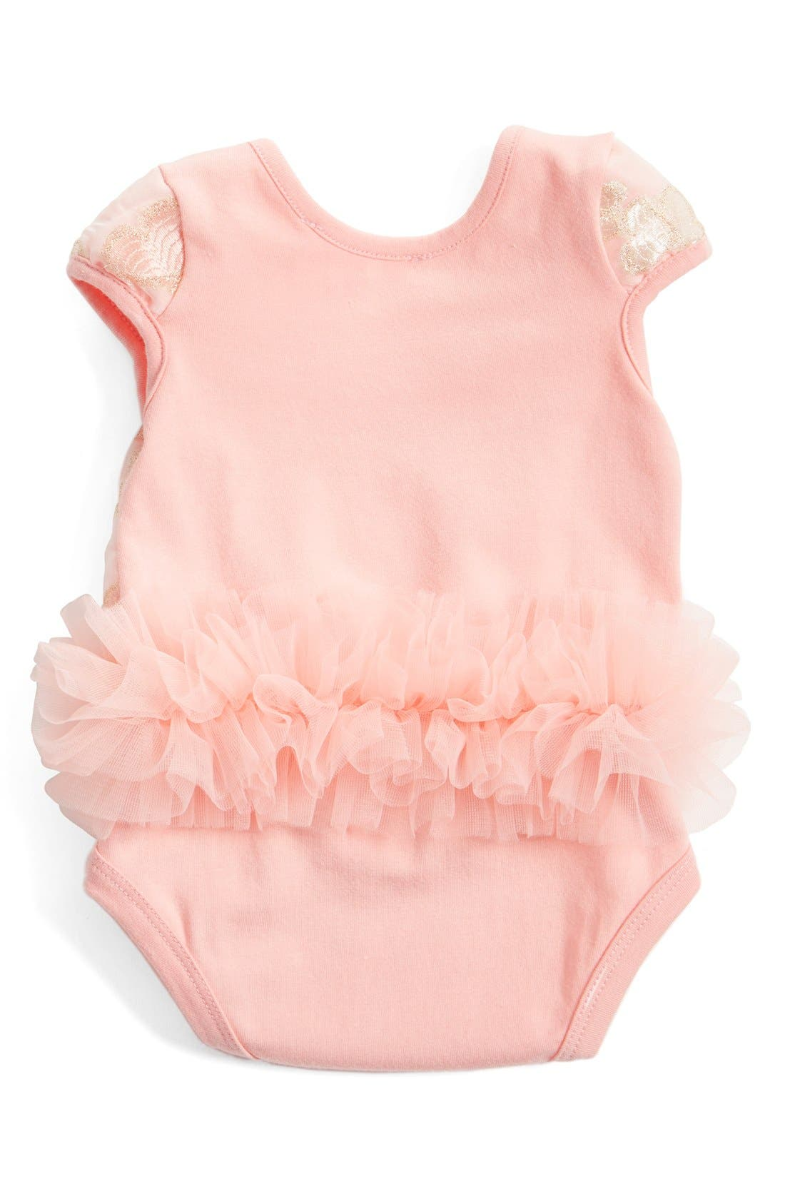 Tutu Bodysuit,                             Alternate thumbnail 2, color,                             PEACH
