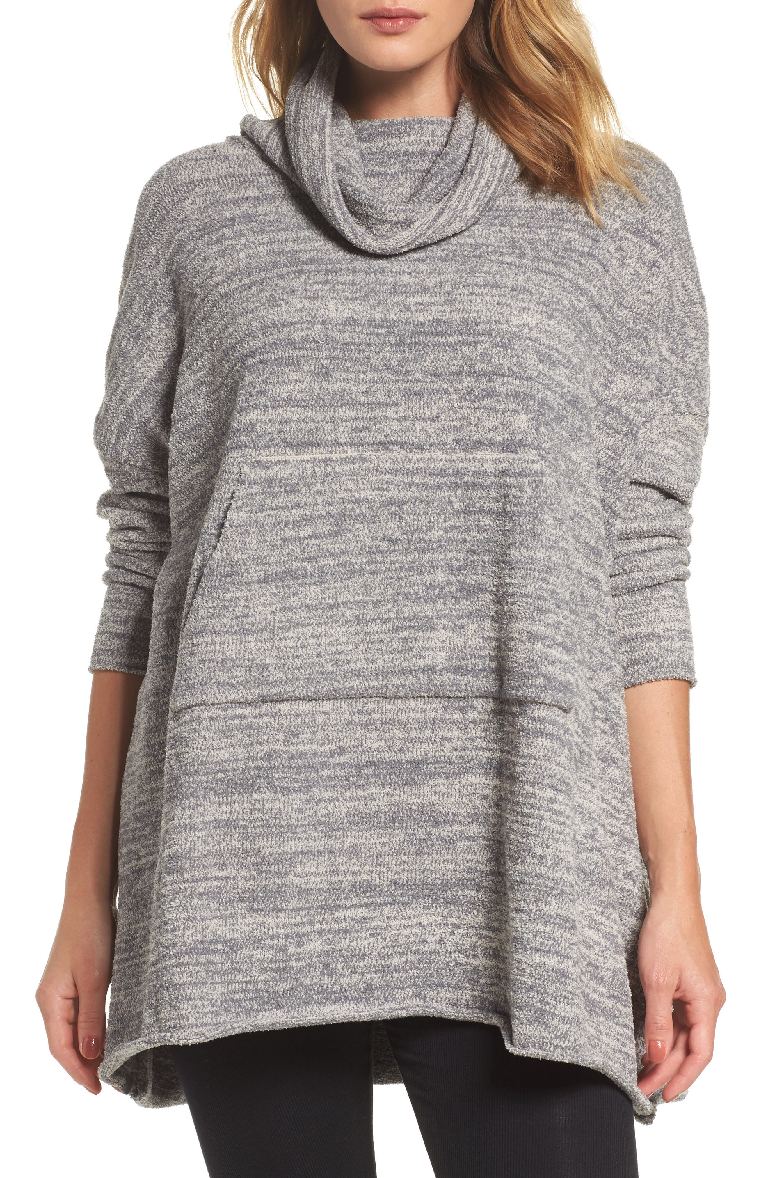 Cozychic<sup>®</sup> Lounge Pullover,                             Main thumbnail 1, color,                             GRAPHITE/ STONE HEATHERED