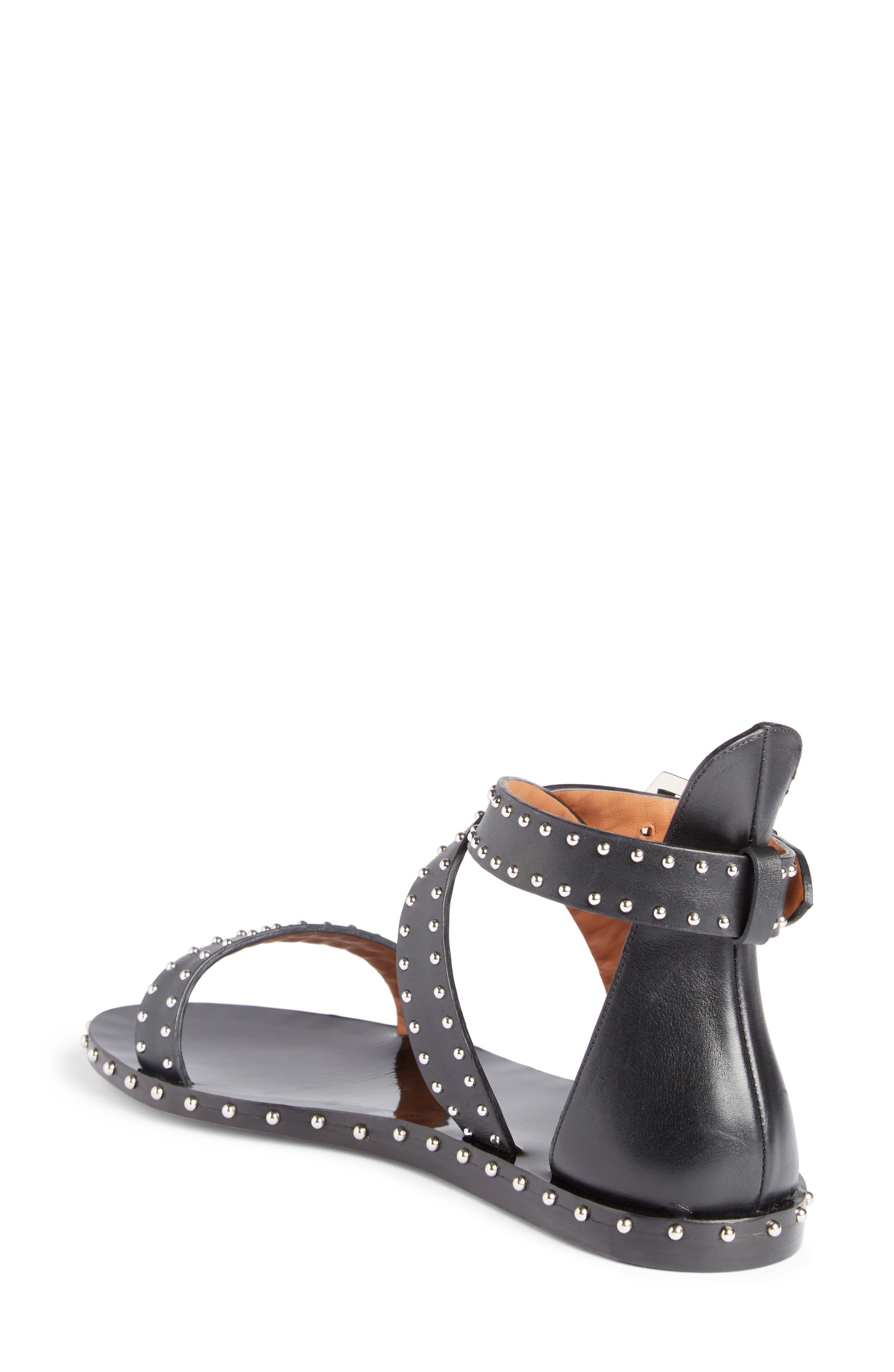 Elegant Strappy Studded Sandal,                             Alternate thumbnail 2, color,                             001
