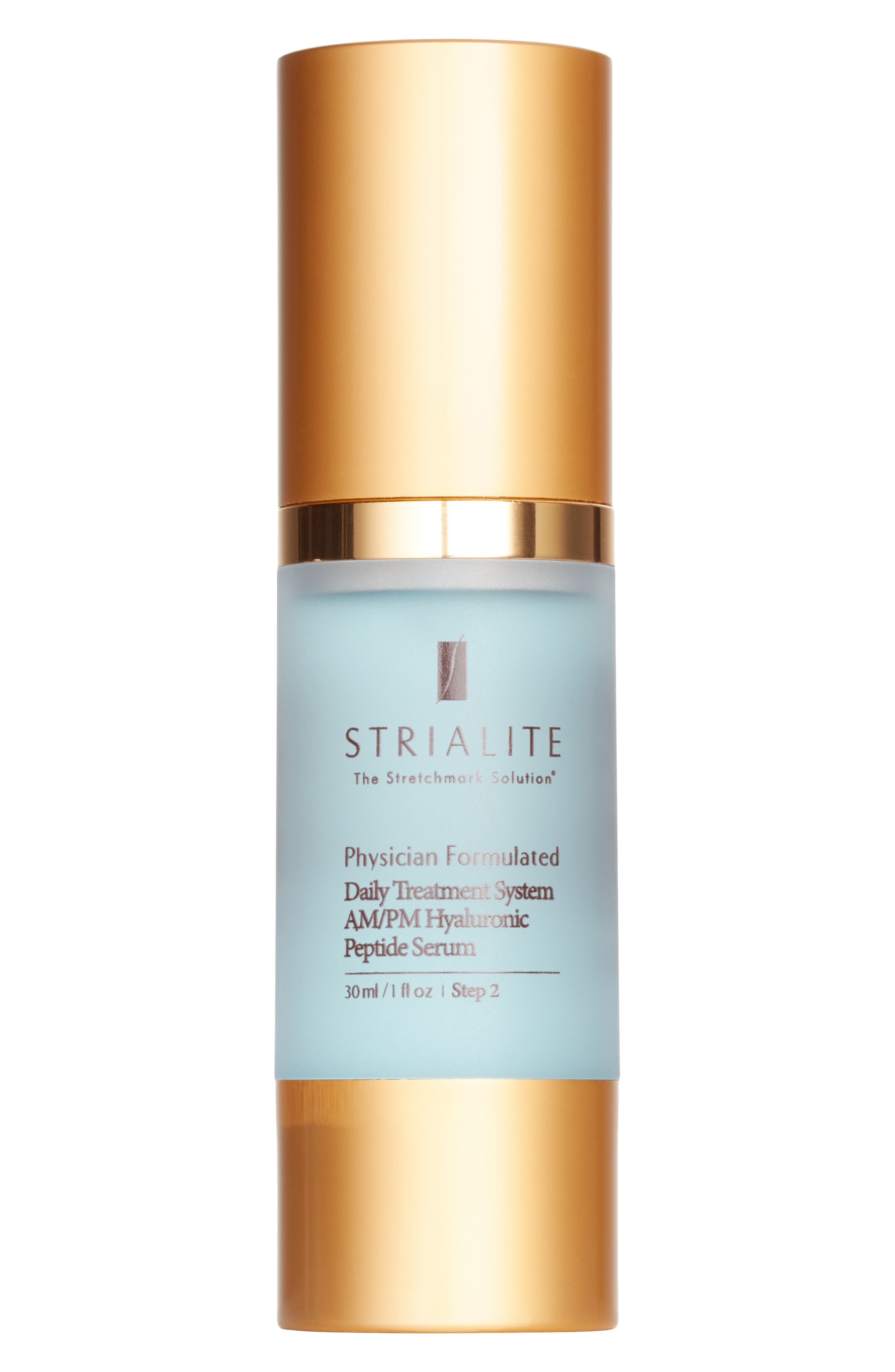 The Stretchmark Solution<sup>™</sup> Daily Treatment System AM/PM Hyaluronic Peptide Serum,                         Main,                         color, NO COLOR