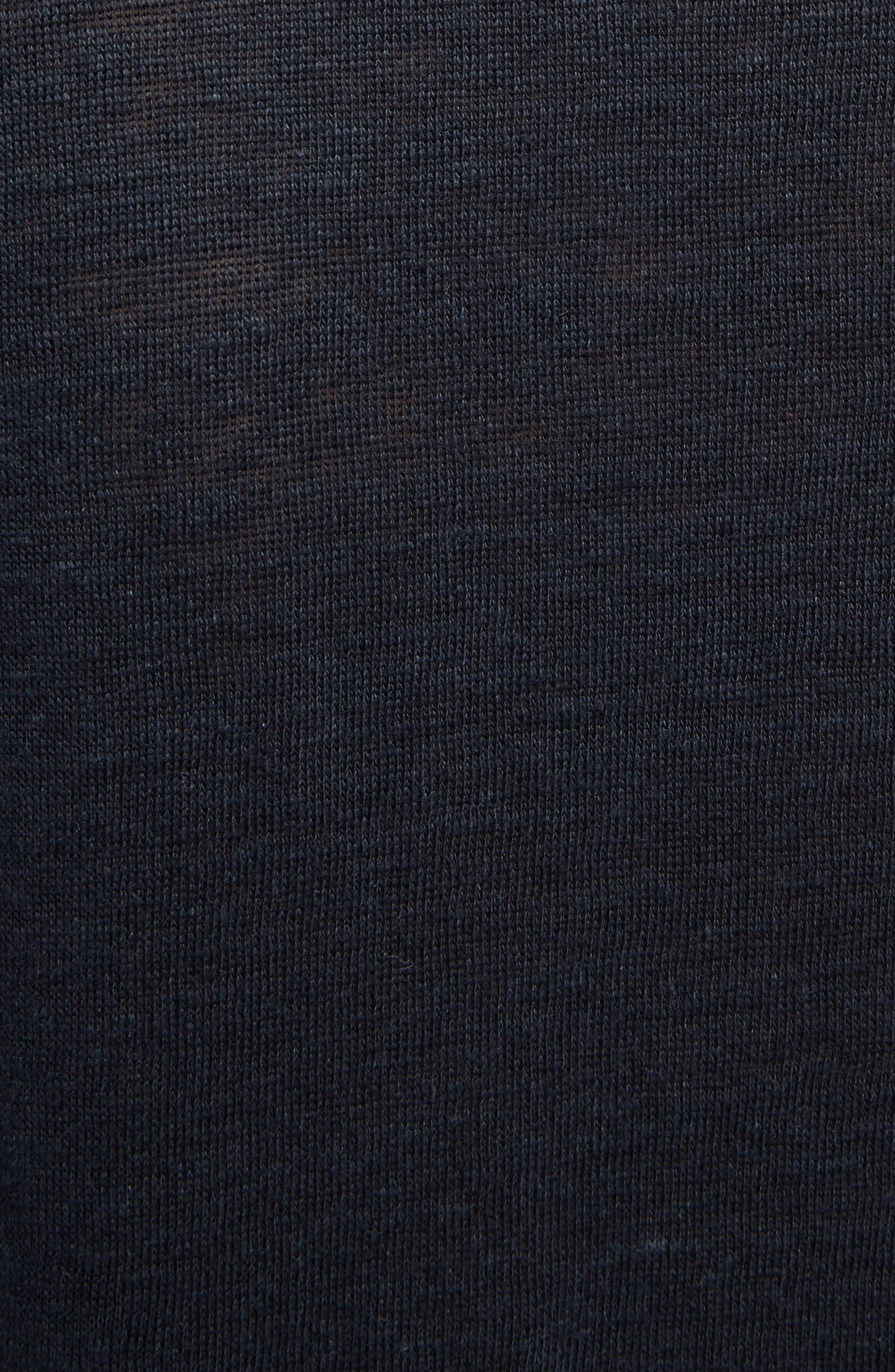 Saga Linen T-Shirt Dress,                             Alternate thumbnail 5, color,                             001