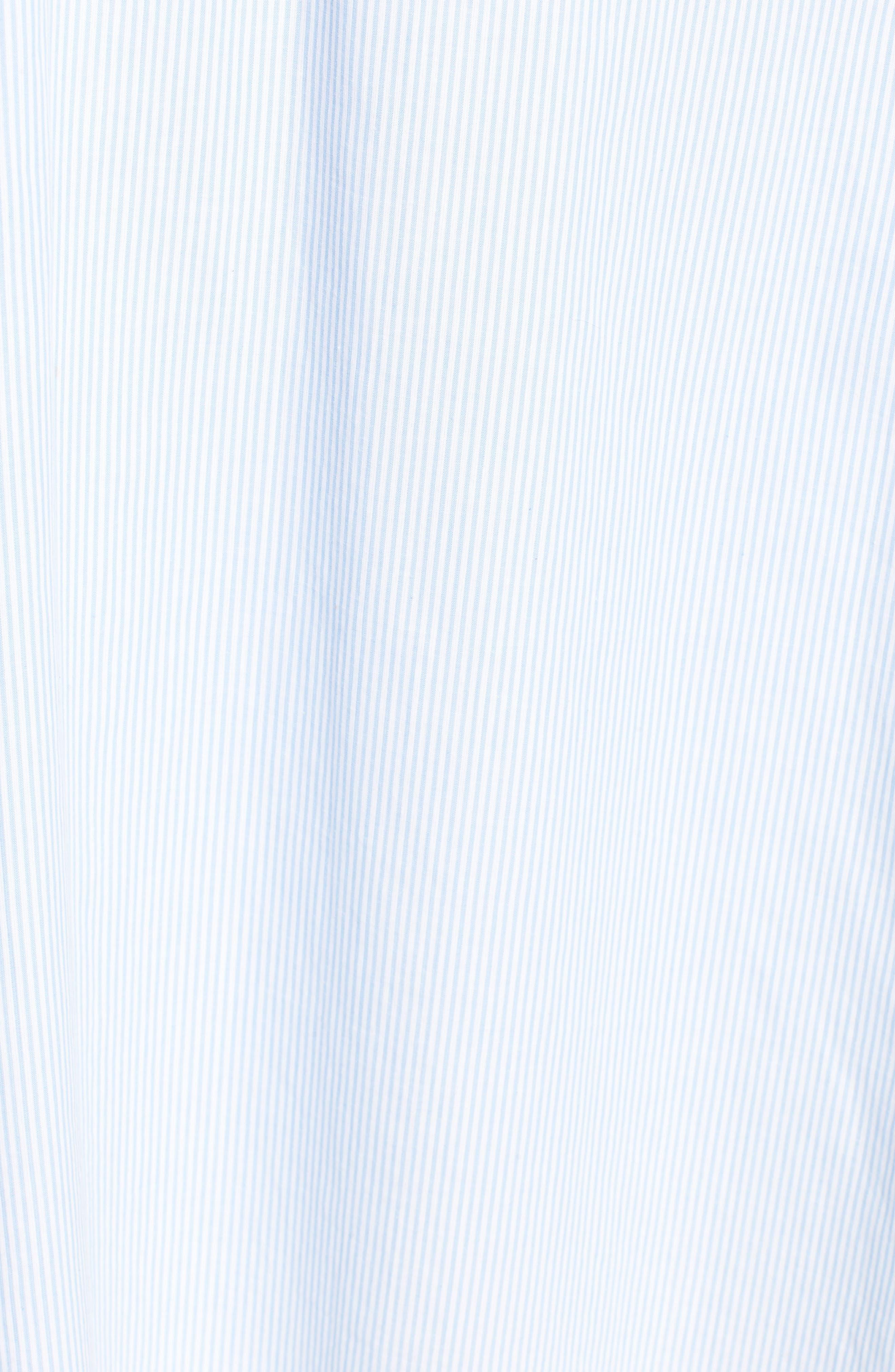 Stripe Lace-Up Maxi Dress,                             Alternate thumbnail 5, color,                             400