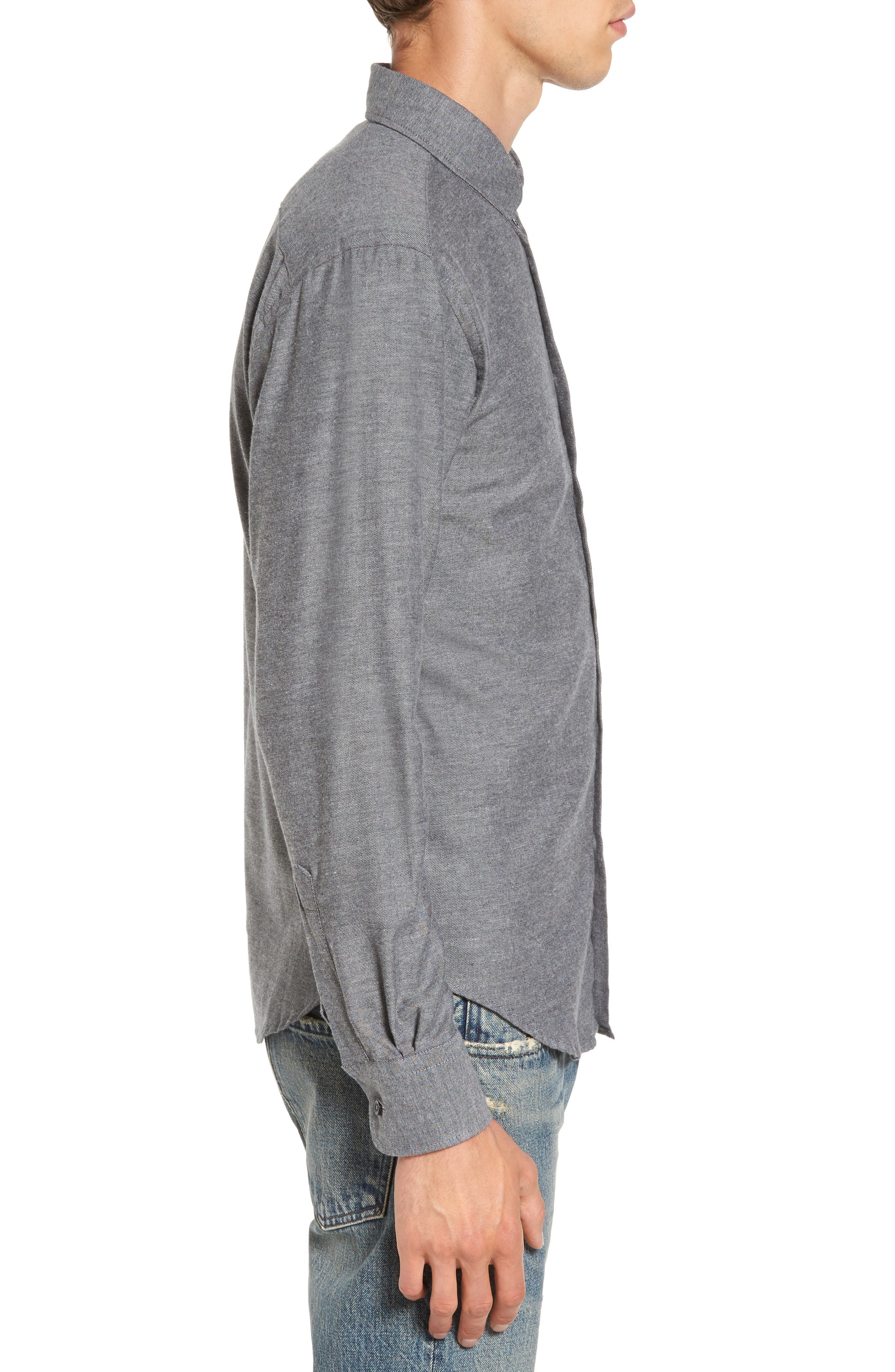 Twill Woven Shirt,                             Alternate thumbnail 3, color,                             030
