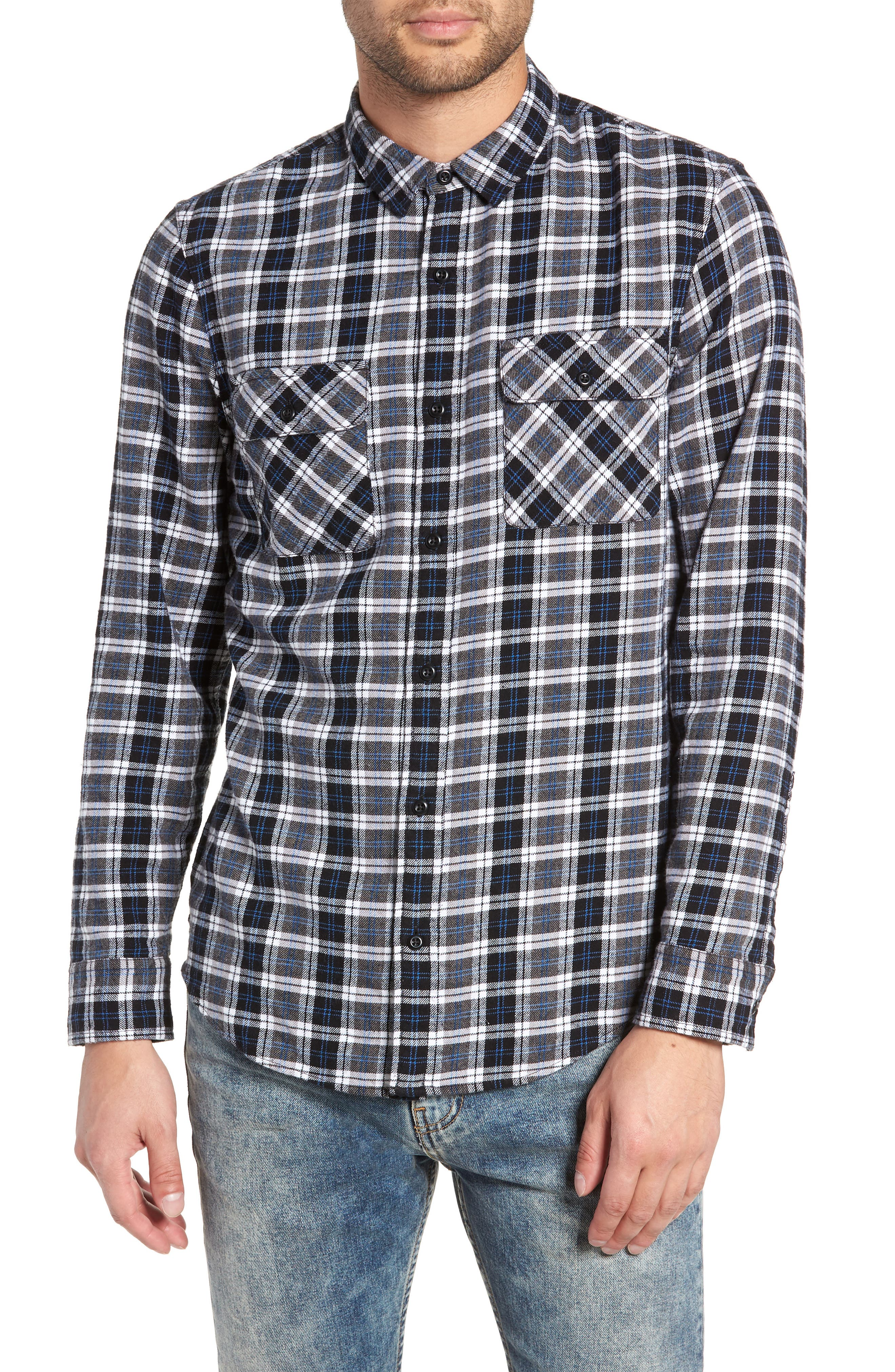 Plaid Flannel Shirt,                             Main thumbnail 1, color,                             030