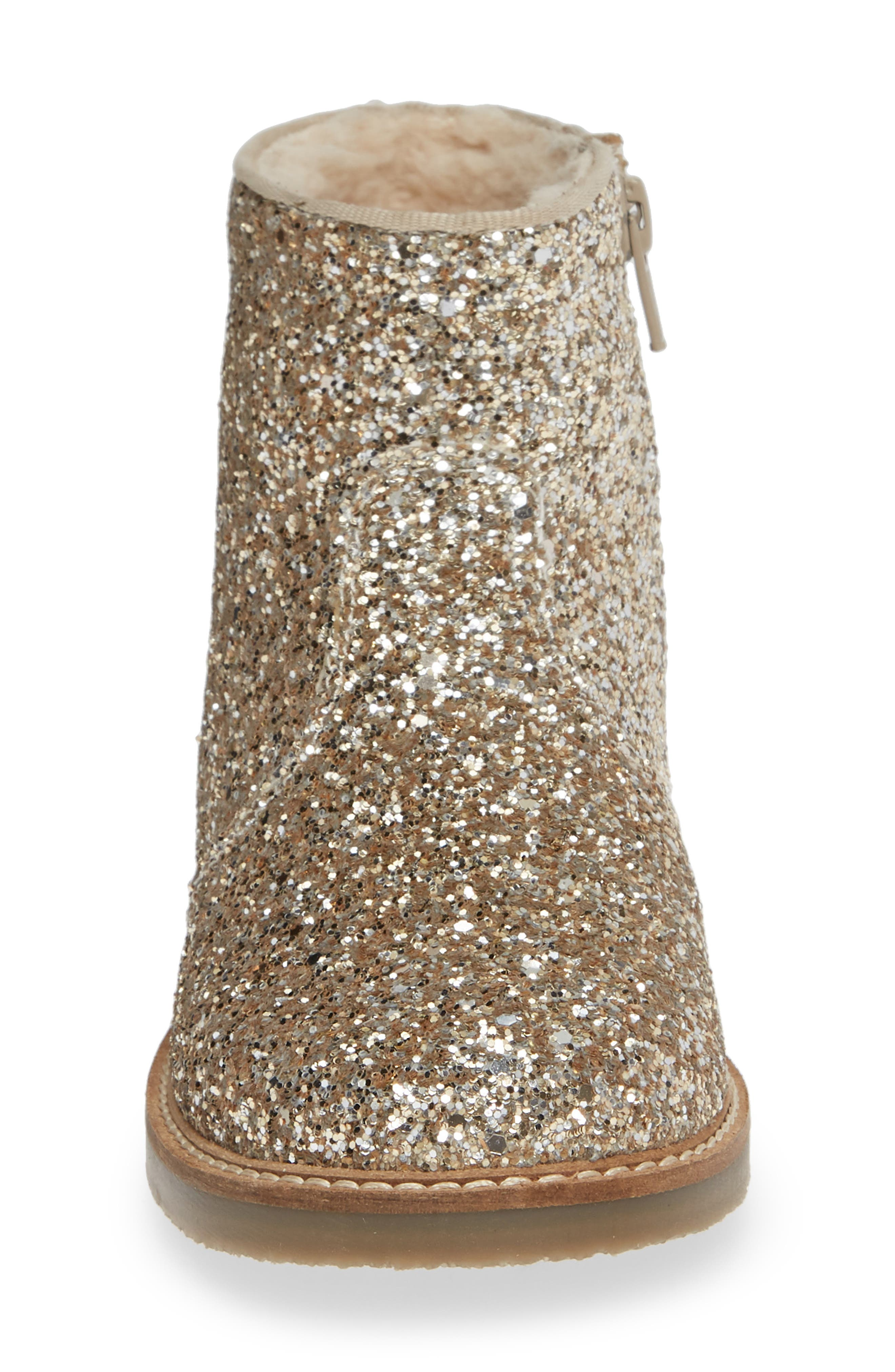 Glitter Booties,                             Alternate thumbnail 4, color,                             SILVER/ GOLD