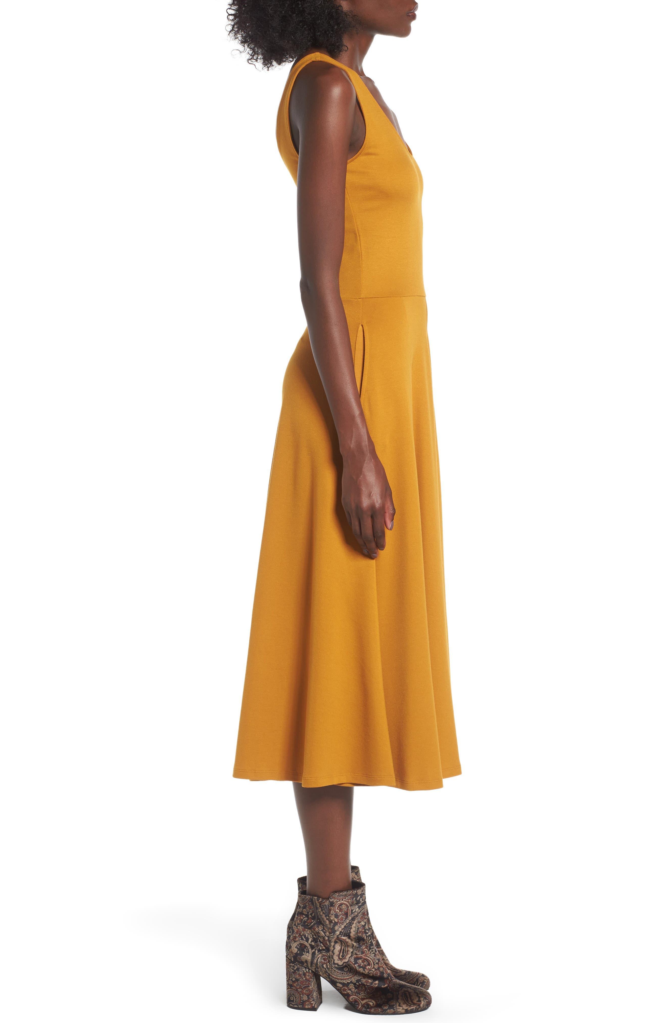 Stretch Knit Midi Dress,                             Alternate thumbnail 28, color,