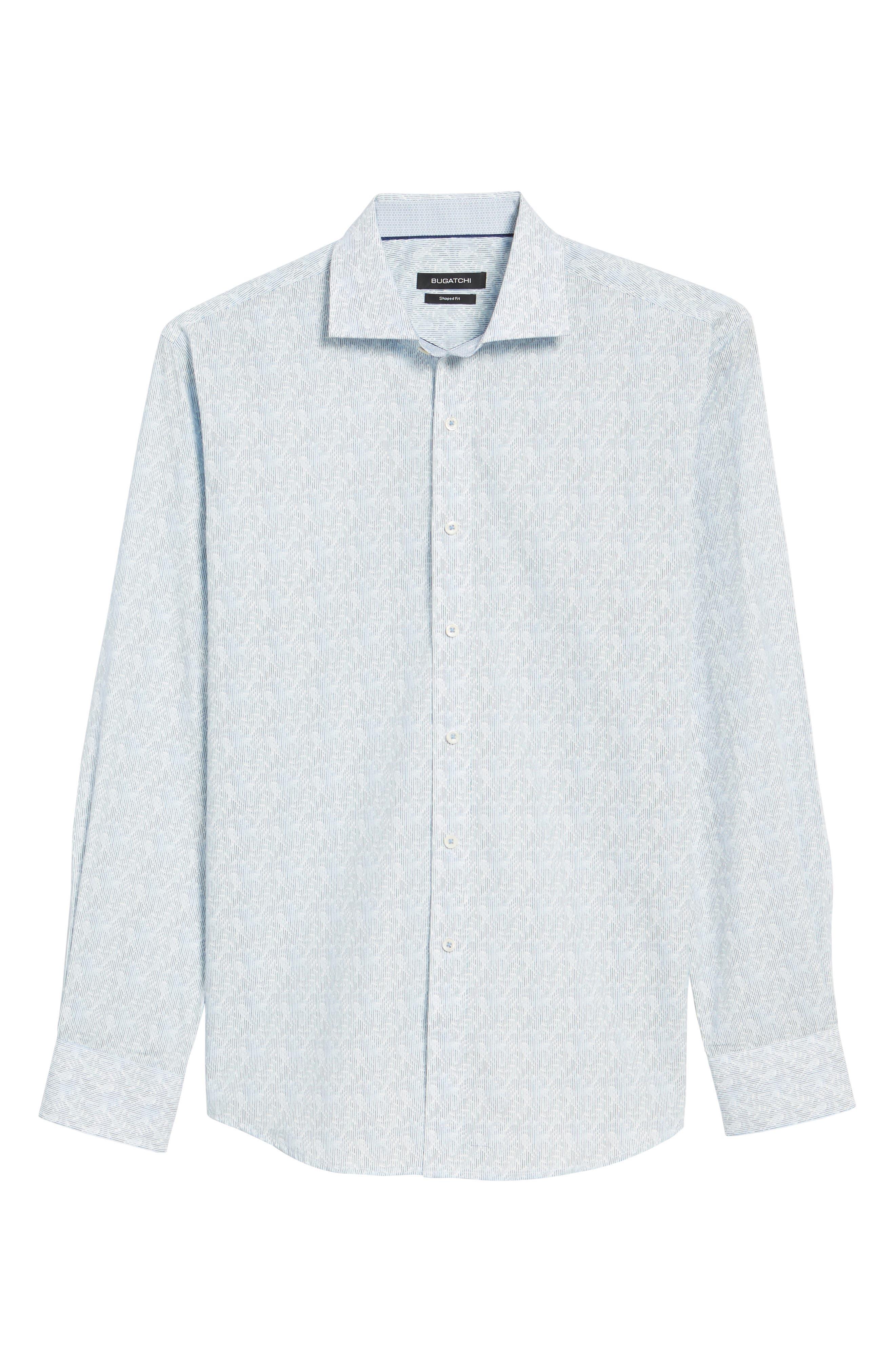 Shaped Fit Impression Print Sport Shirt,                             Alternate thumbnail 6, color,                             420