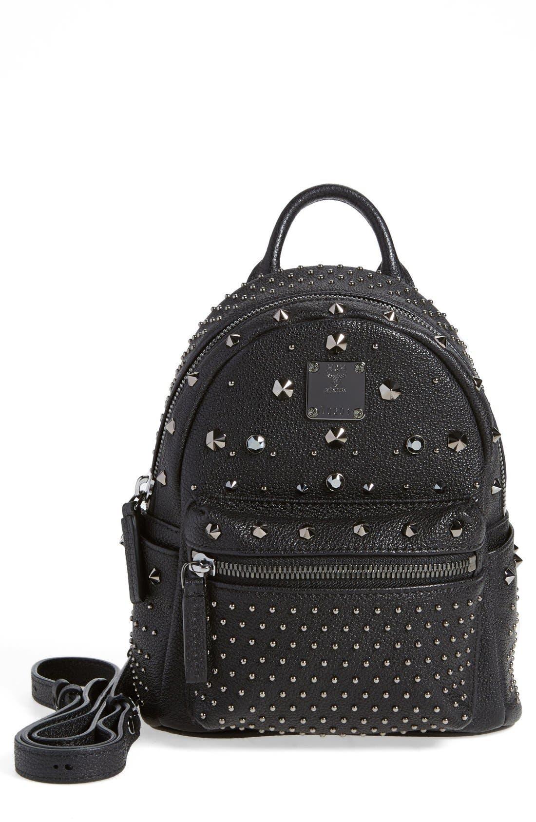 MCM 'X Mini Bebe Boo' Backpack, Main, color, 001
