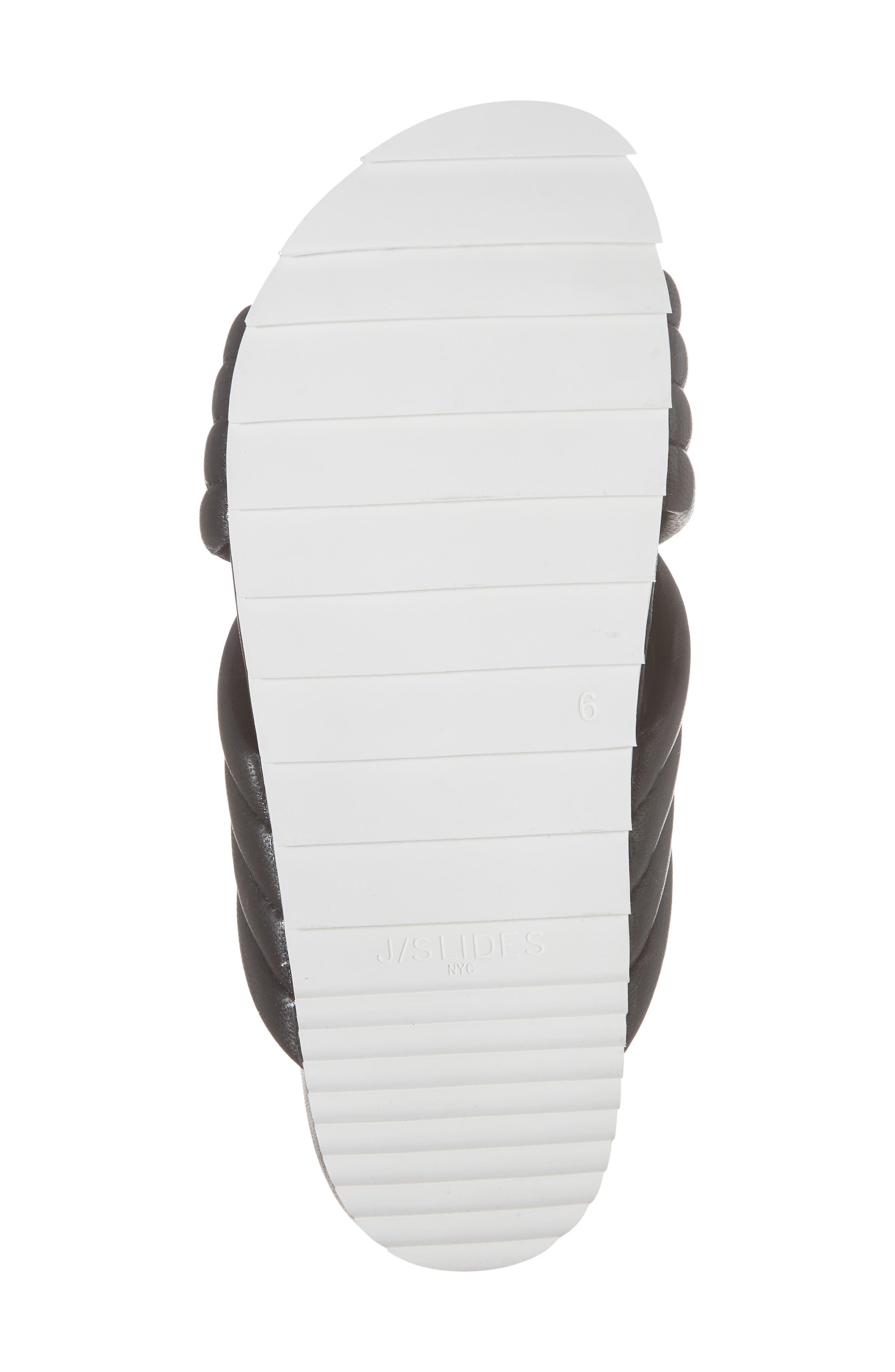 Easy Slide Sandal,                             Alternate thumbnail 6, color,                             BLACK LEATHER