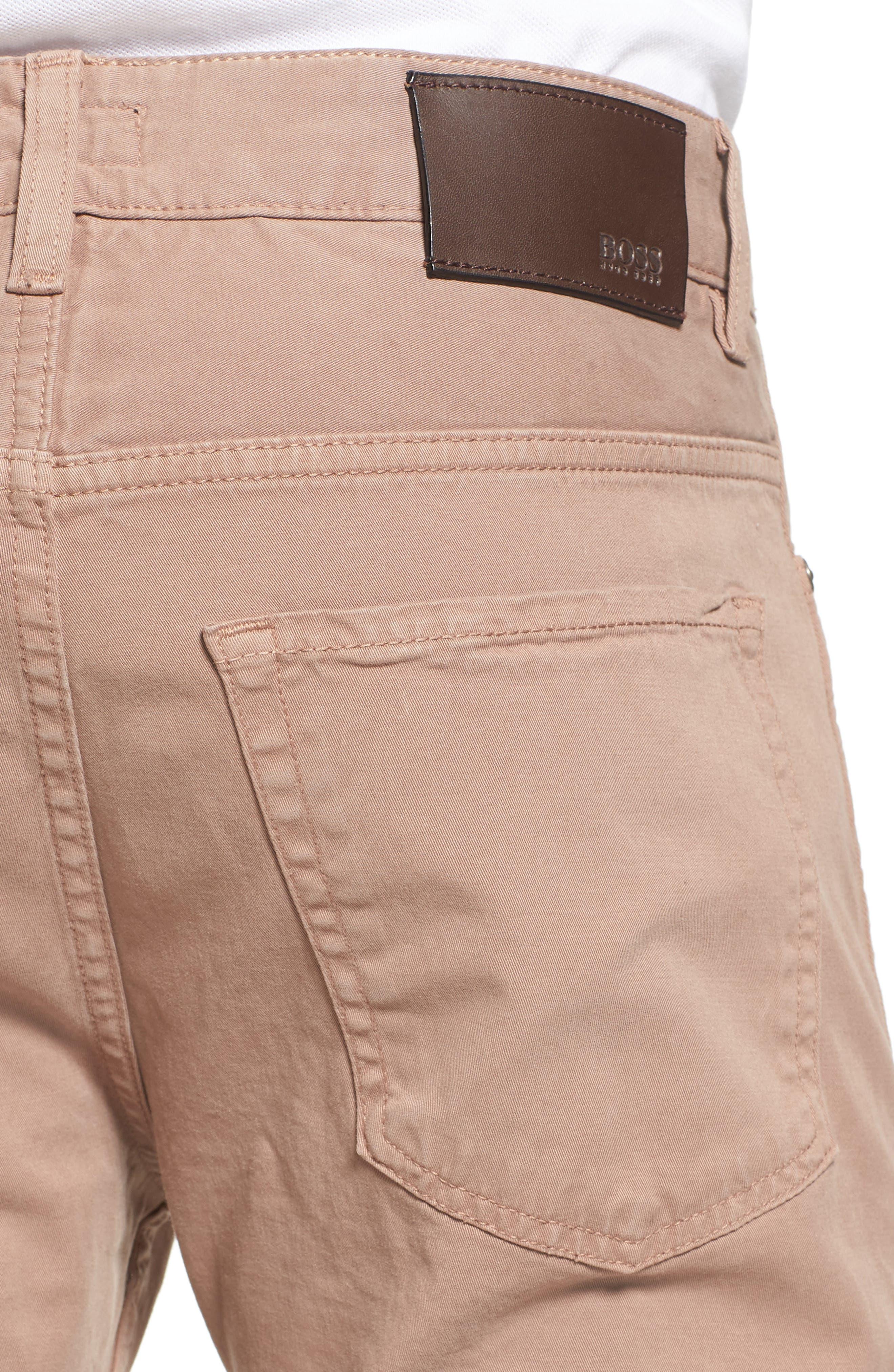 Delaware Slim Fit Stretch Cotton Pants,                             Alternate thumbnail 4, color,                             265