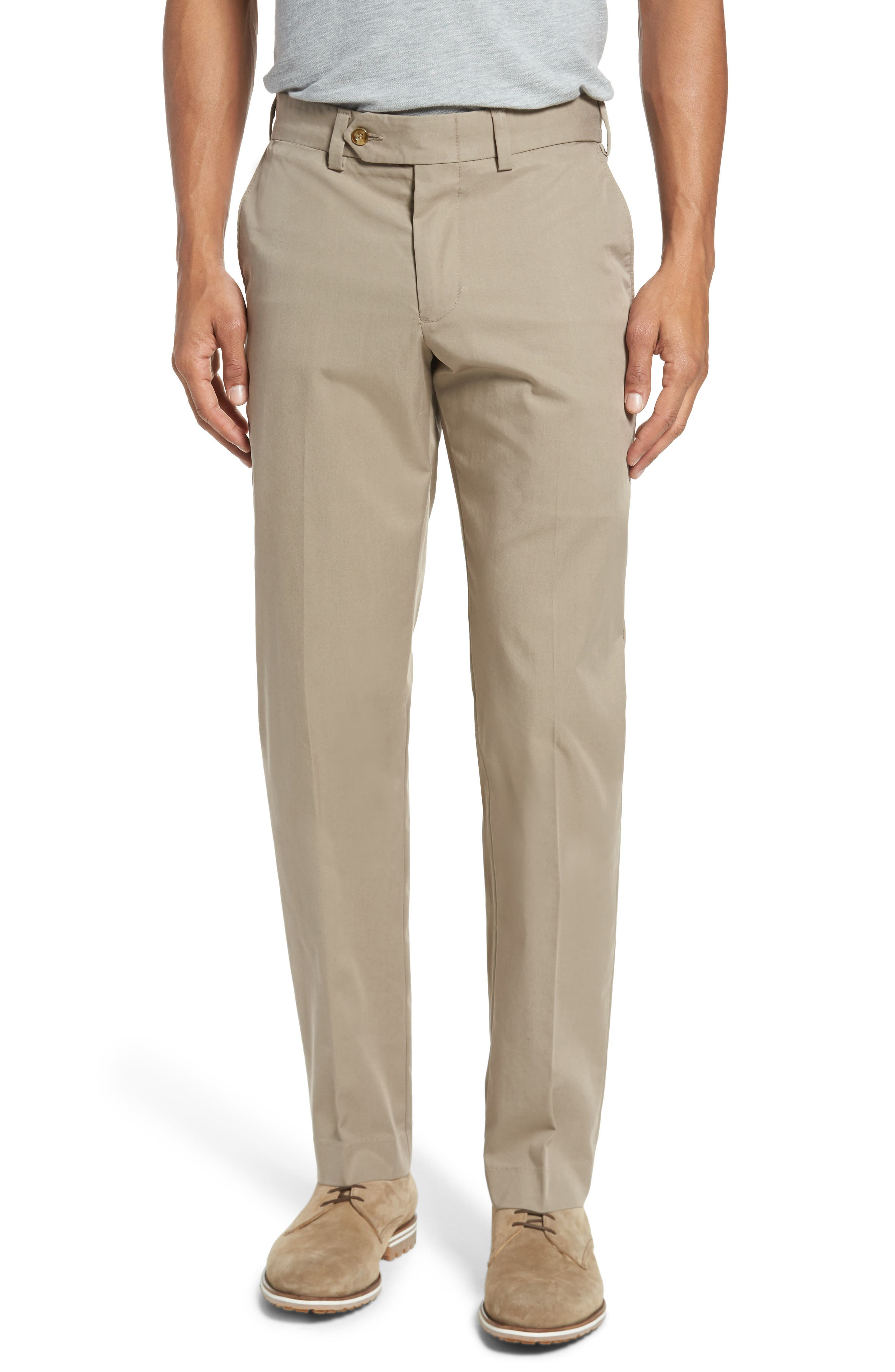 Straight Fit Travel Twill Pants,                         Main,                         color, KHAKI