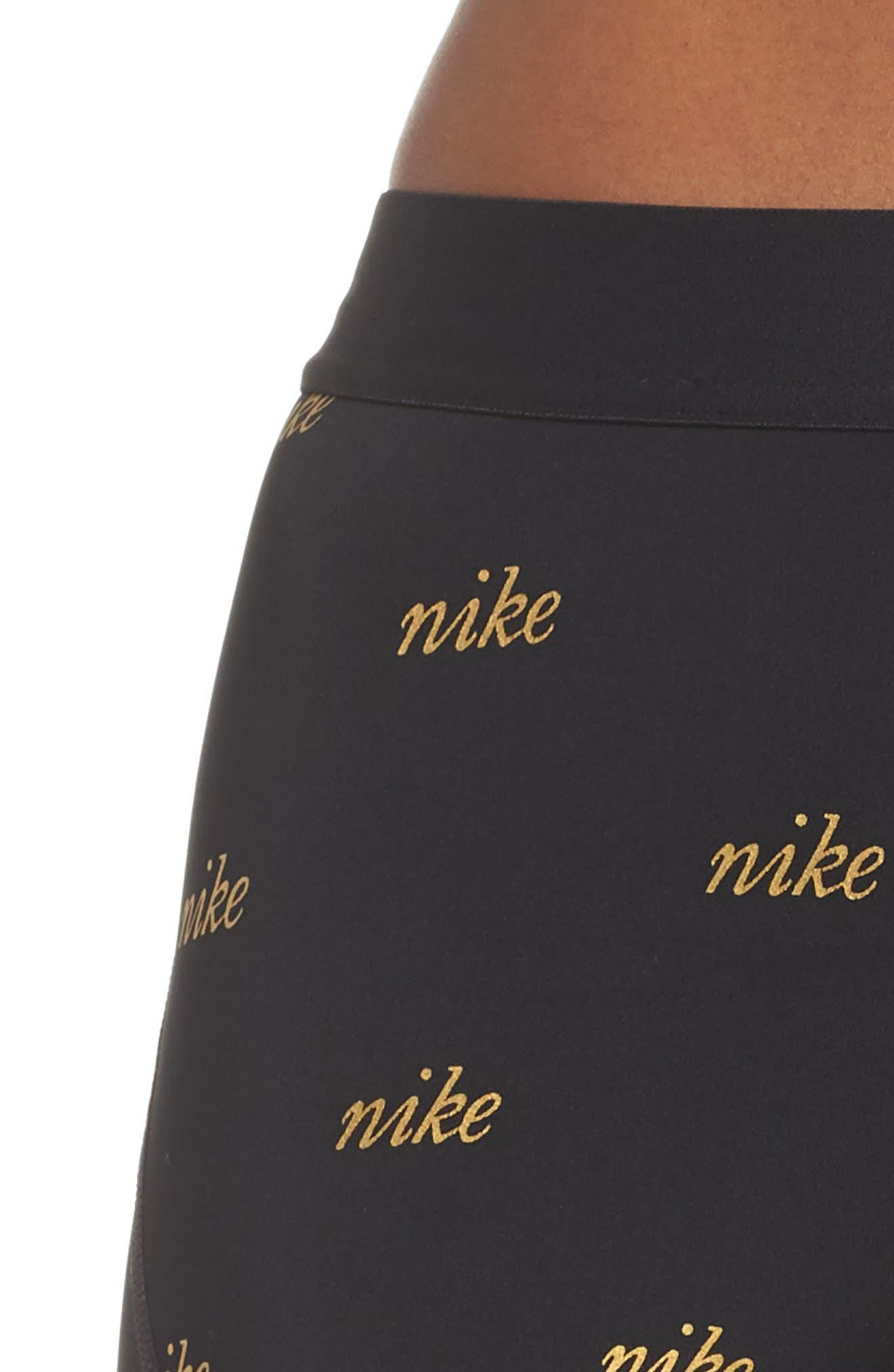Pro Metallic Shorts,                             Alternate thumbnail 6, color,                             BLACK