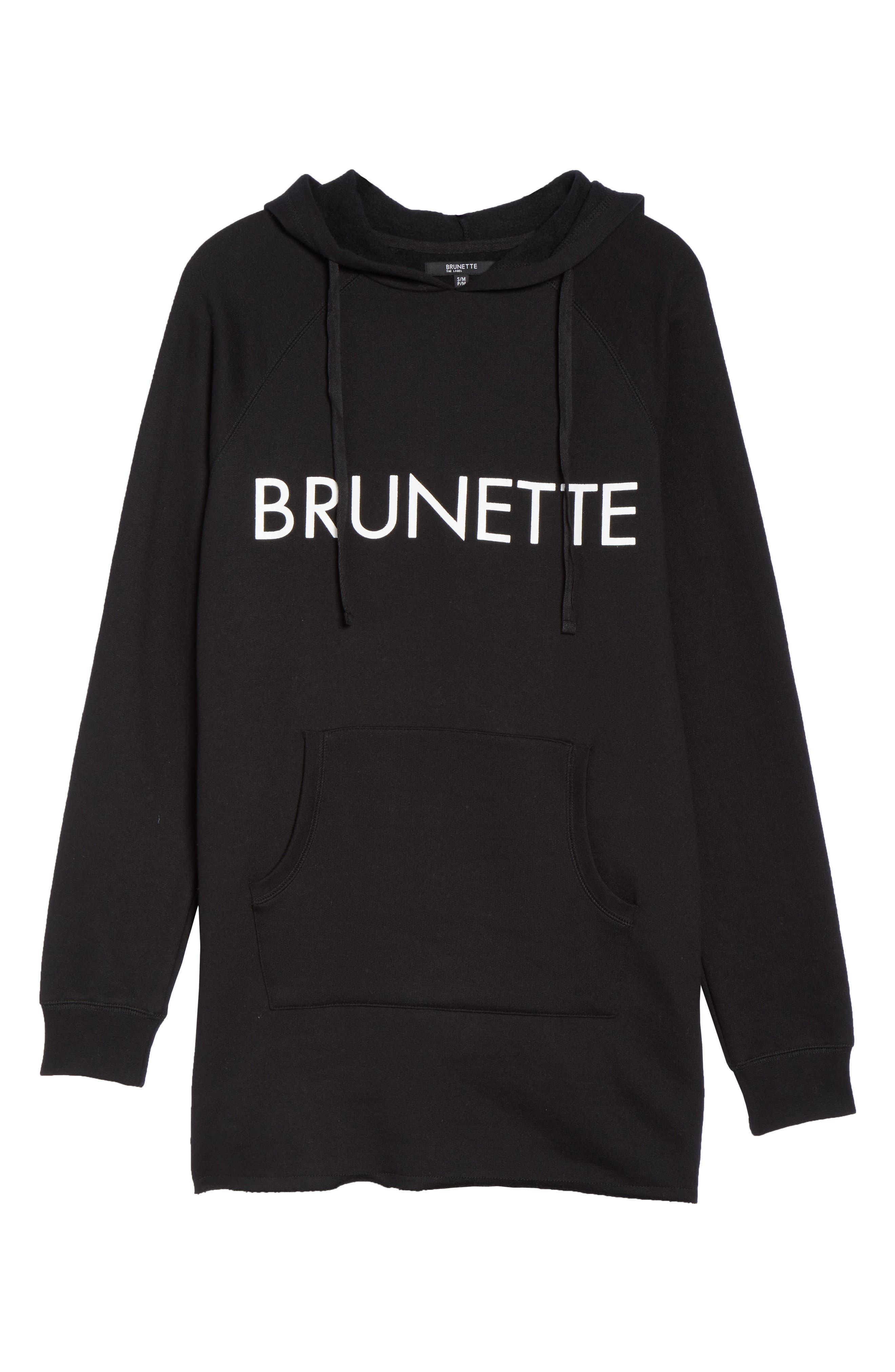 Brunette Long Hoodie,                             Alternate thumbnail 6, color,                             001