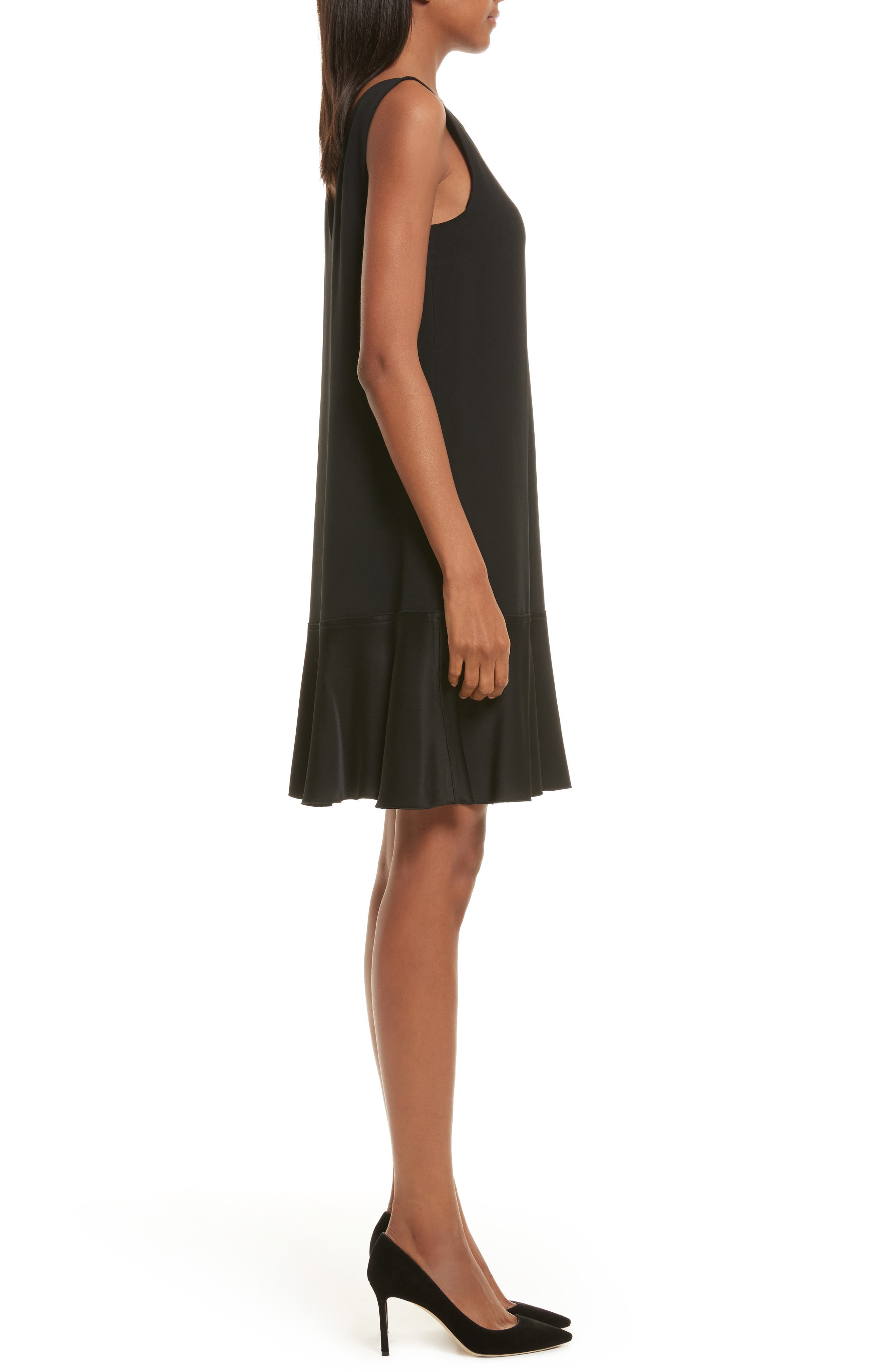 Kensington Flirty Flare Dress,                             Alternate thumbnail 3, color,                             001