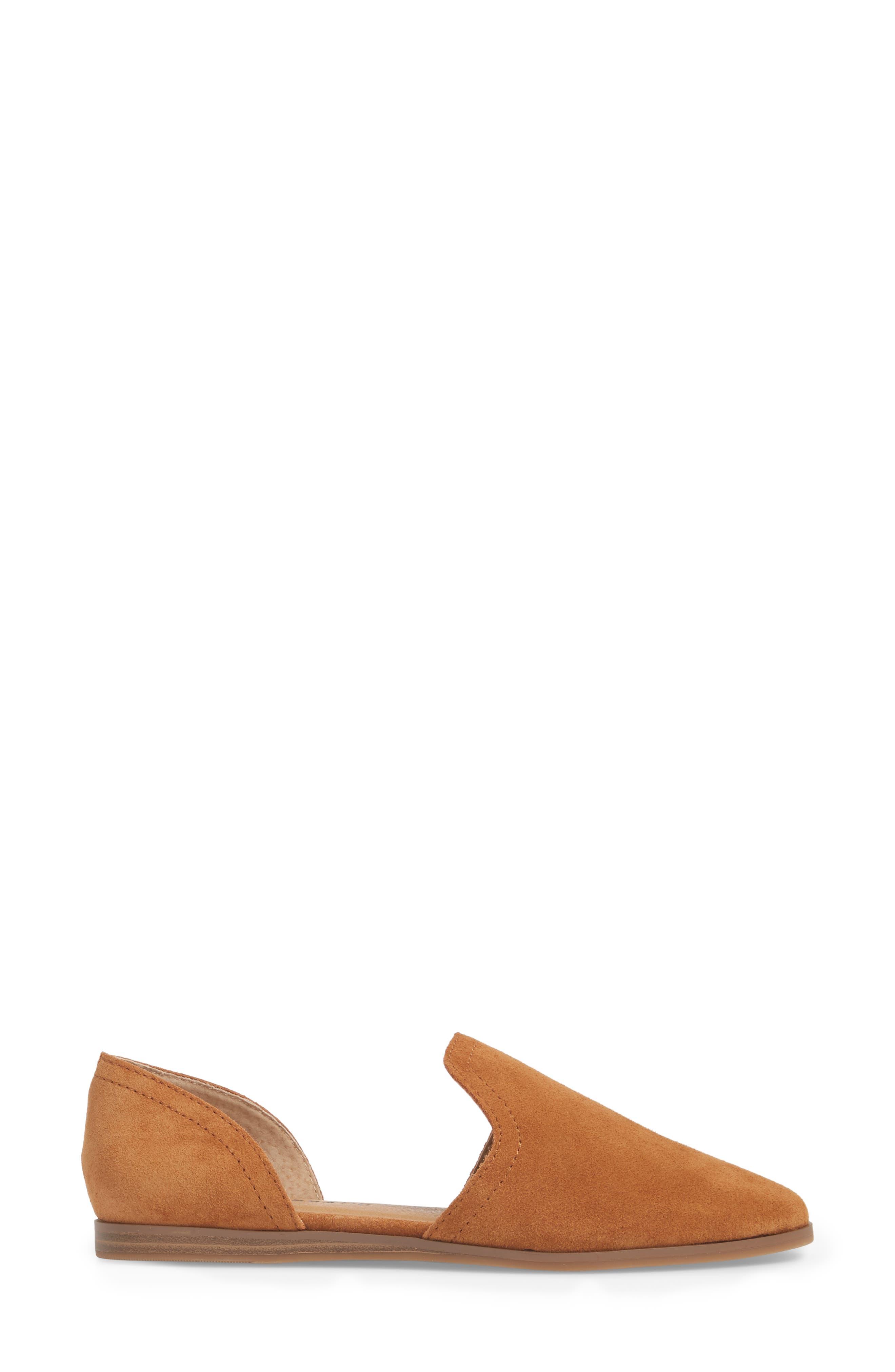Jinree Flat,                             Alternate thumbnail 3, color,                             MACAROON SUEDE