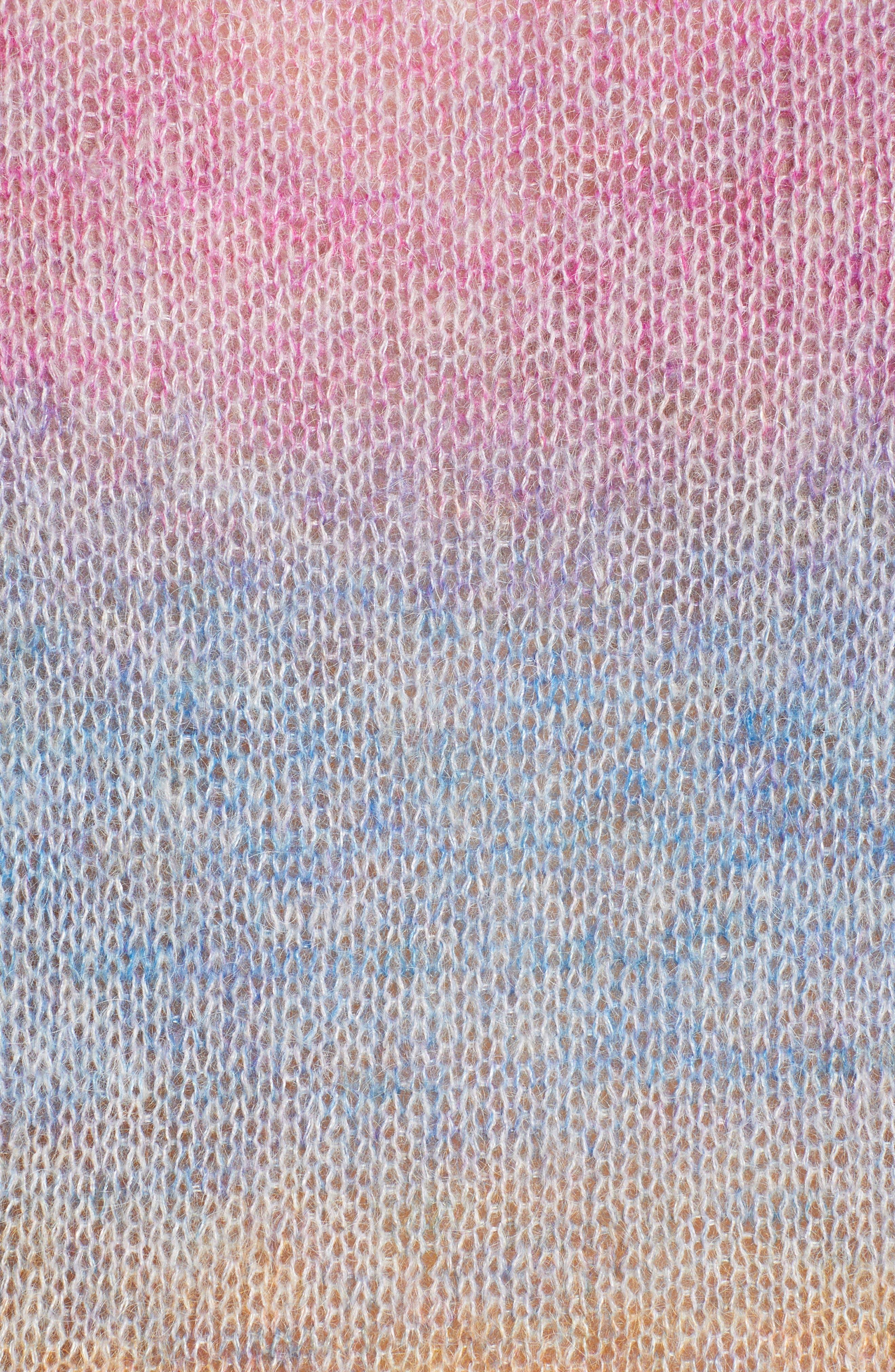 Camille Stripe Sweater,                             Alternate thumbnail 6, color,                             RAINBOW