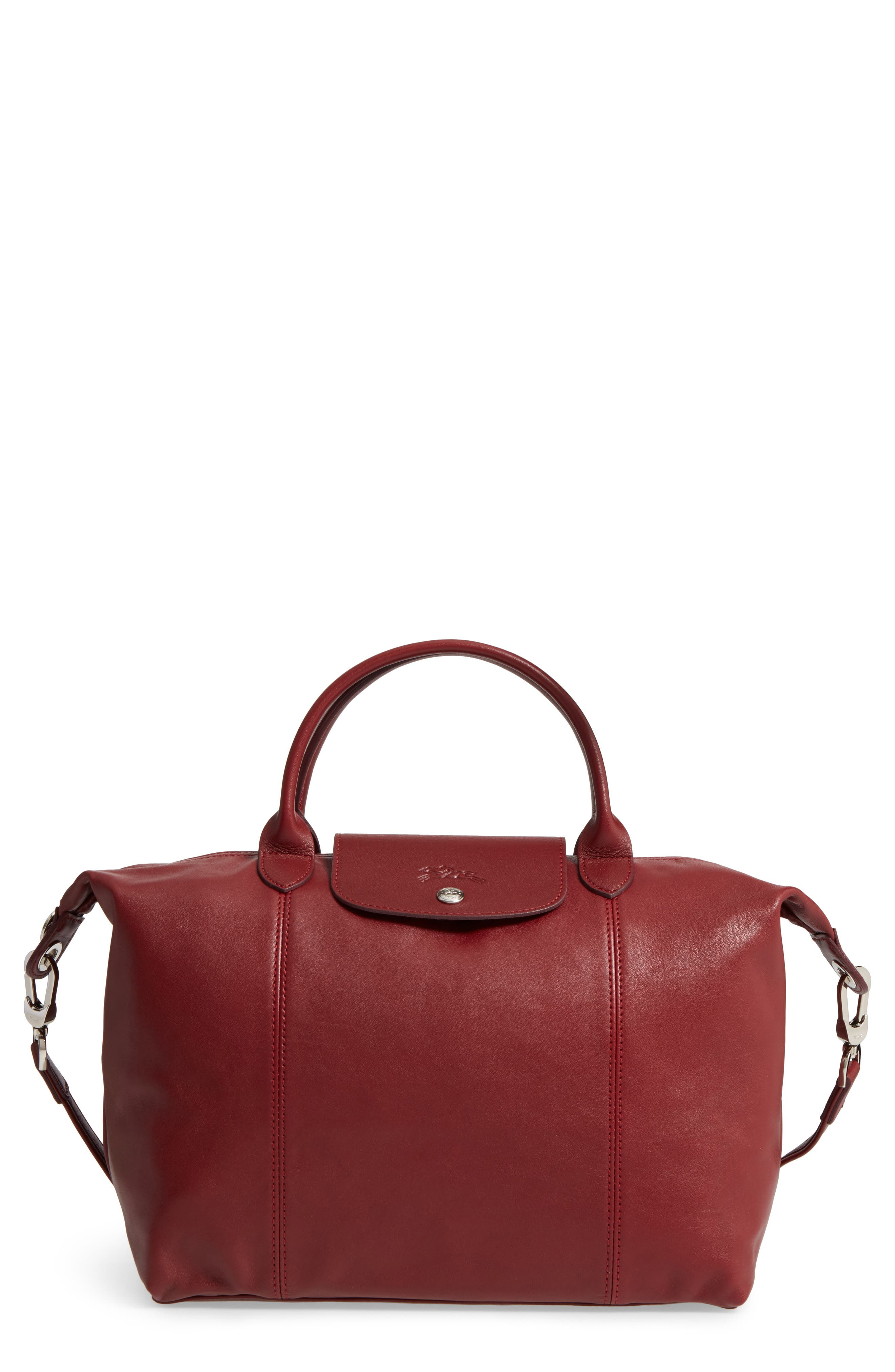 Medium 'Le Pliage Cuir' Leather Top Handle Tote,                             Main thumbnail 25, color,