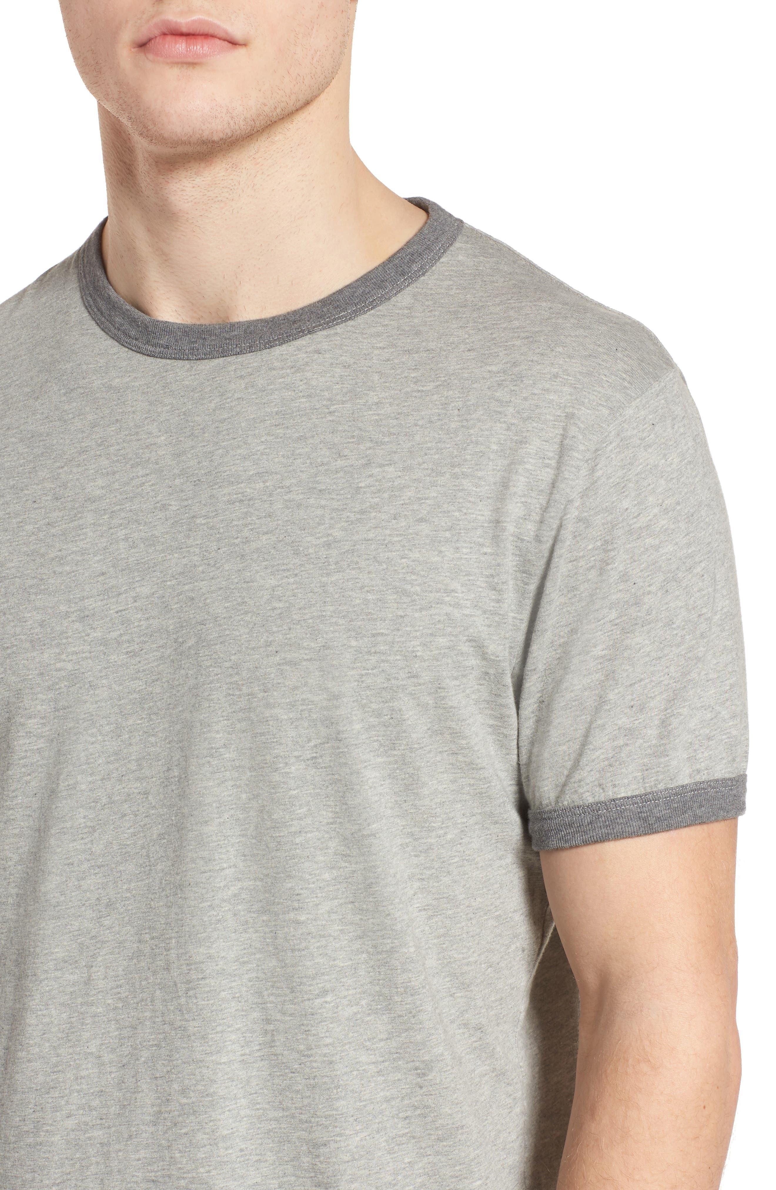 Bens Slim Fit Ringer T-Shirt,                             Alternate thumbnail 4, color,                             032