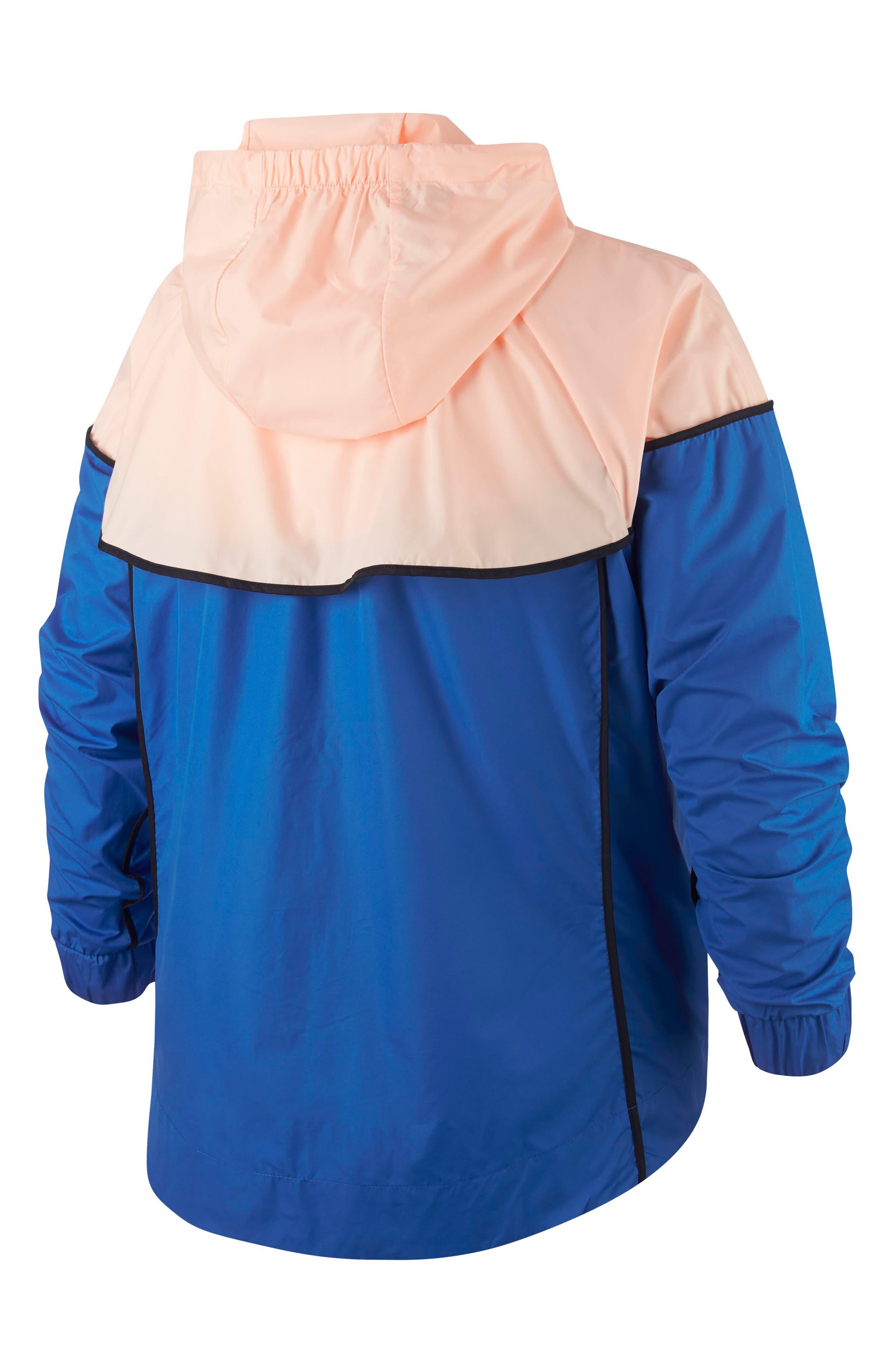 Sportswear Windrunner Jacket,                             Alternate thumbnail 2, color,                             SIGNAL BLUE/ CRIMSON TINT