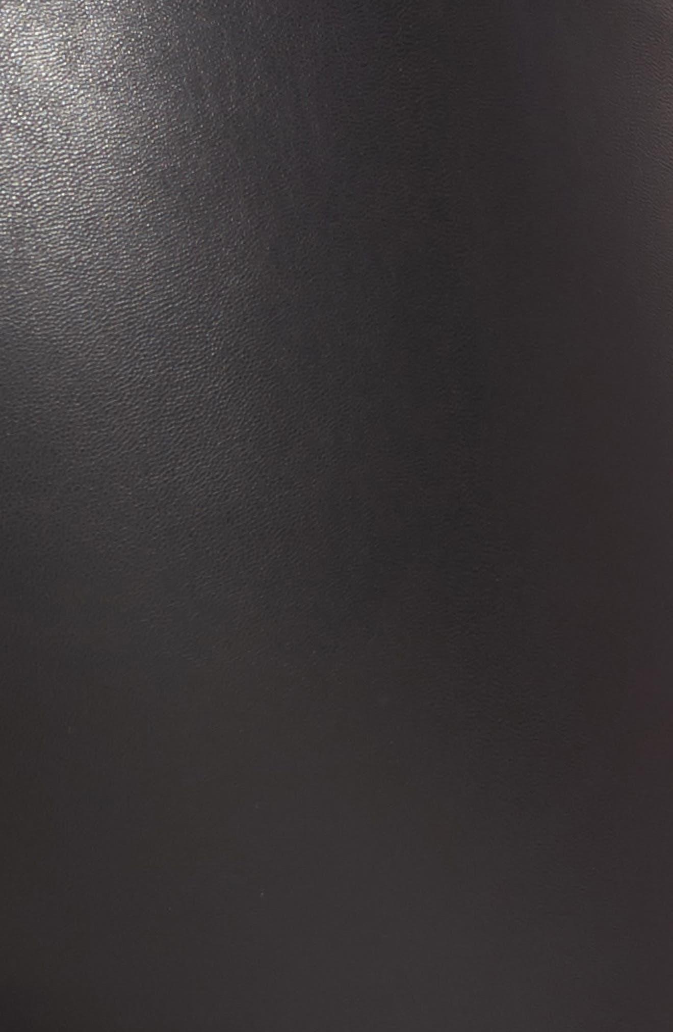 Tuxedo Stripe Zip Faux Leather Leggings,                             Alternate thumbnail 9, color,