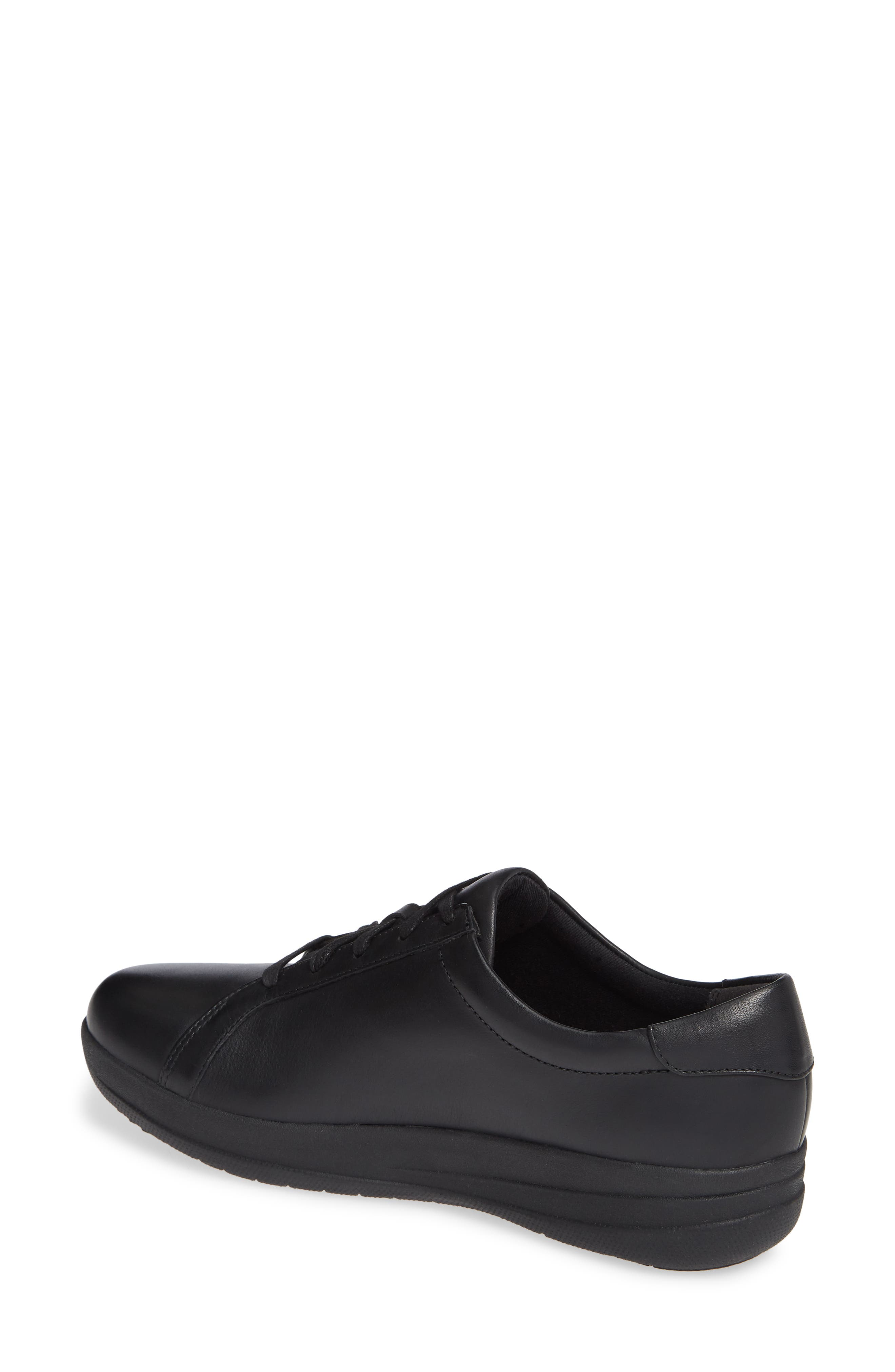 F-Sporty II Studded Sneaker,                             Alternate thumbnail 2, color,                             BLACK LEATHER
