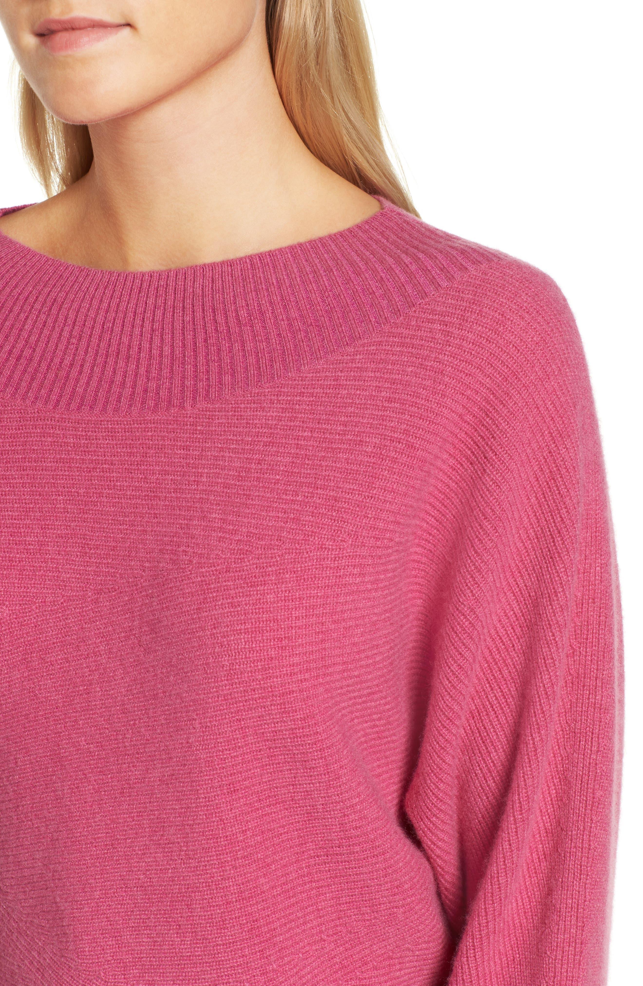 Dolman Sleeve Cashmere Sweater,                             Alternate thumbnail 8, color,