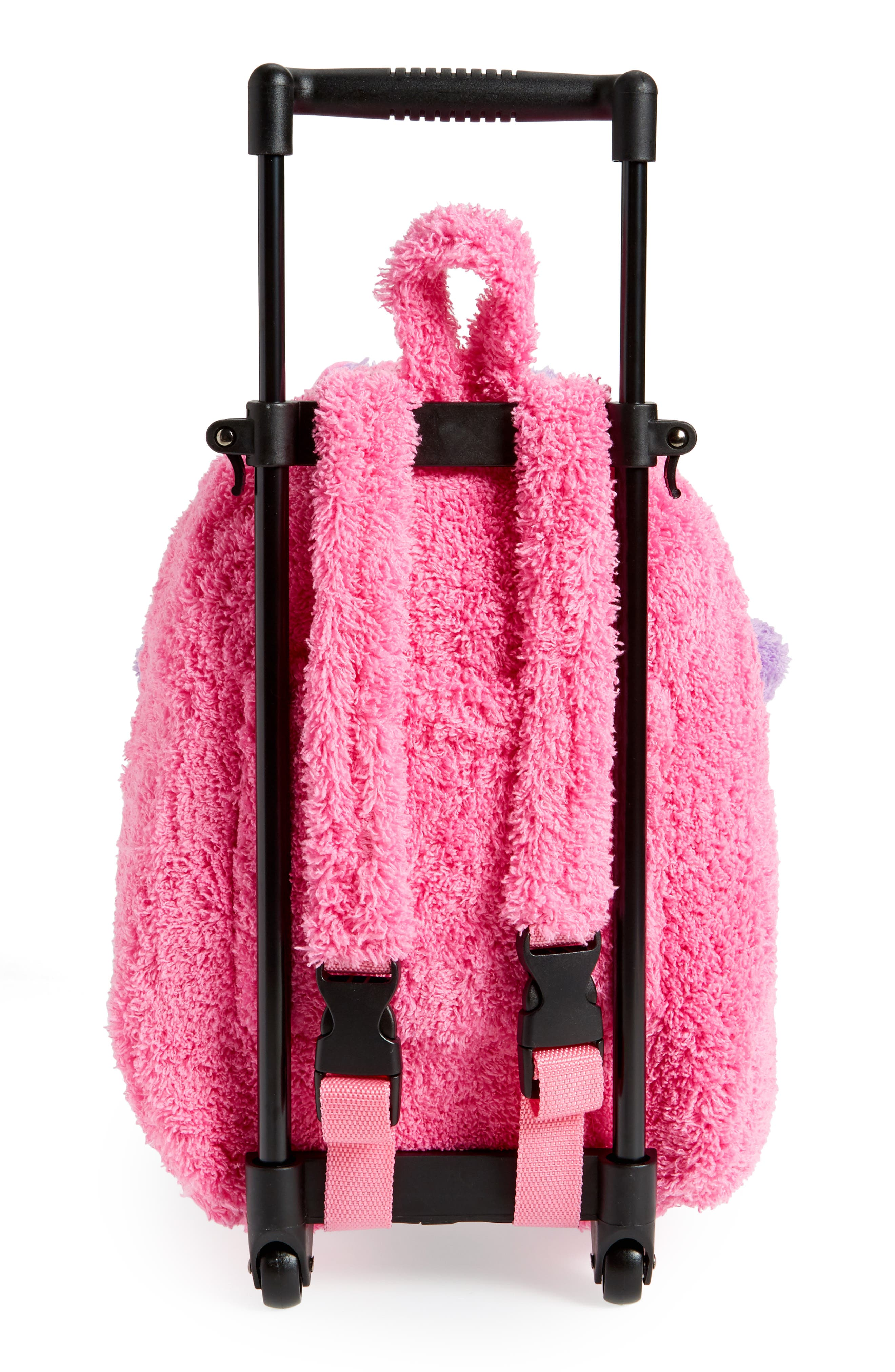 Trolley Rolling Backpack Set,                             Alternate thumbnail 3, color,                             BRIGHT PINK