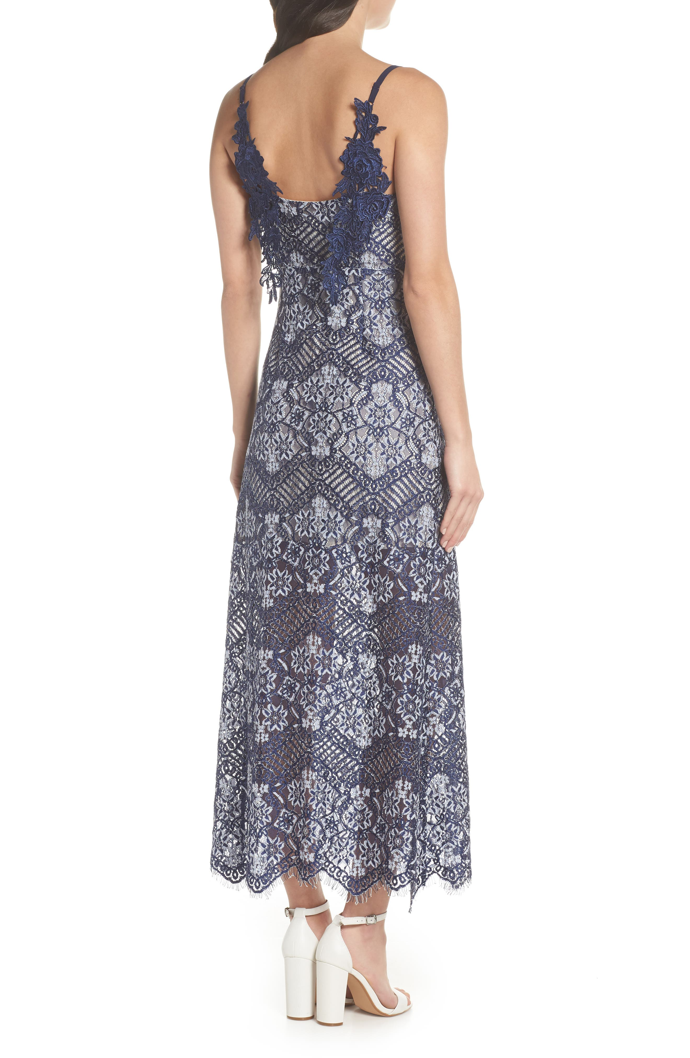 Daleyza Open Back Lace Gown,                             Alternate thumbnail 2, color,                             410