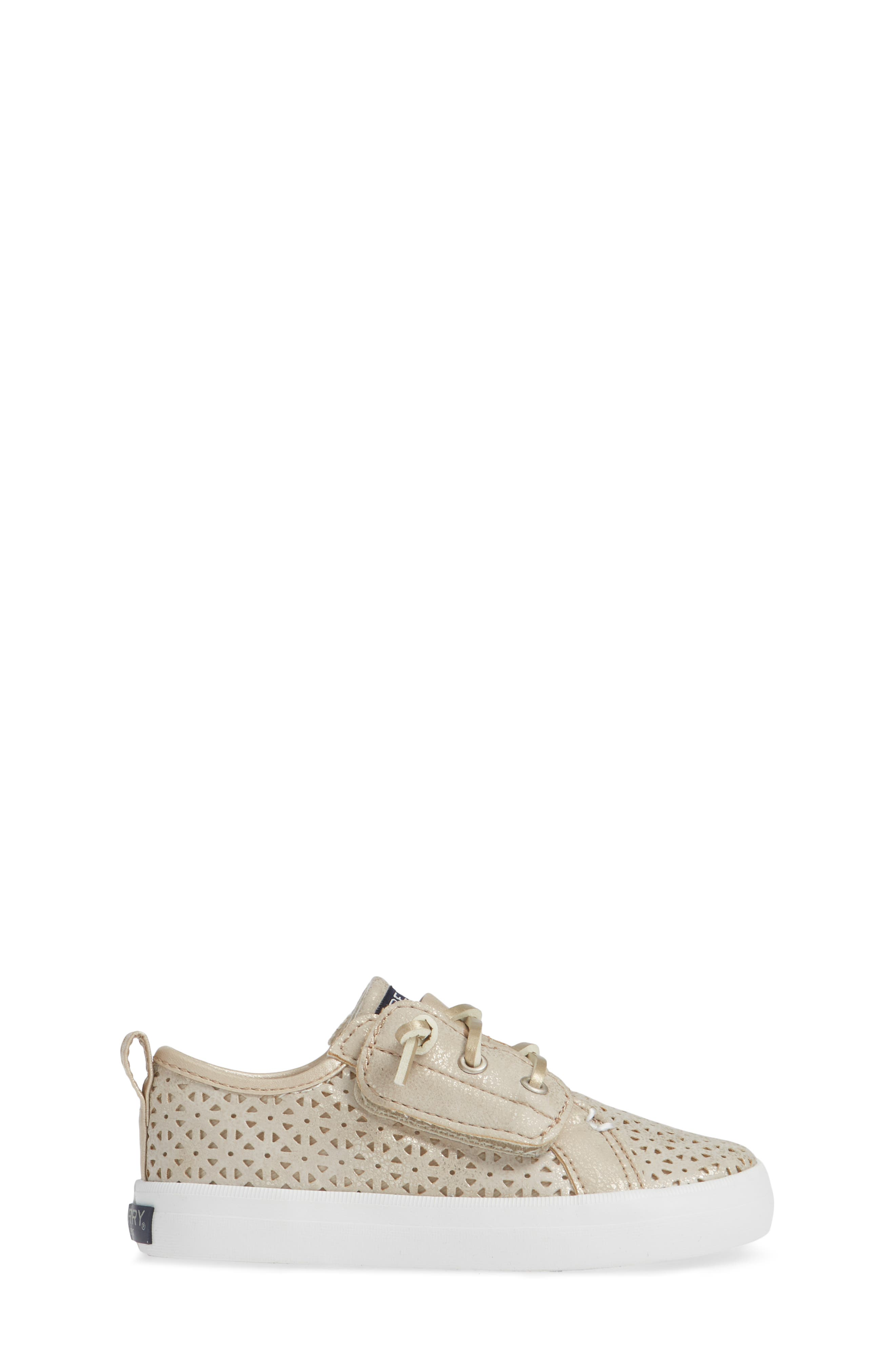 Sperry Crest Vibe Sneaker,                             Alternate thumbnail 3, color,                             CHAMPAGNE SYNTHETIC