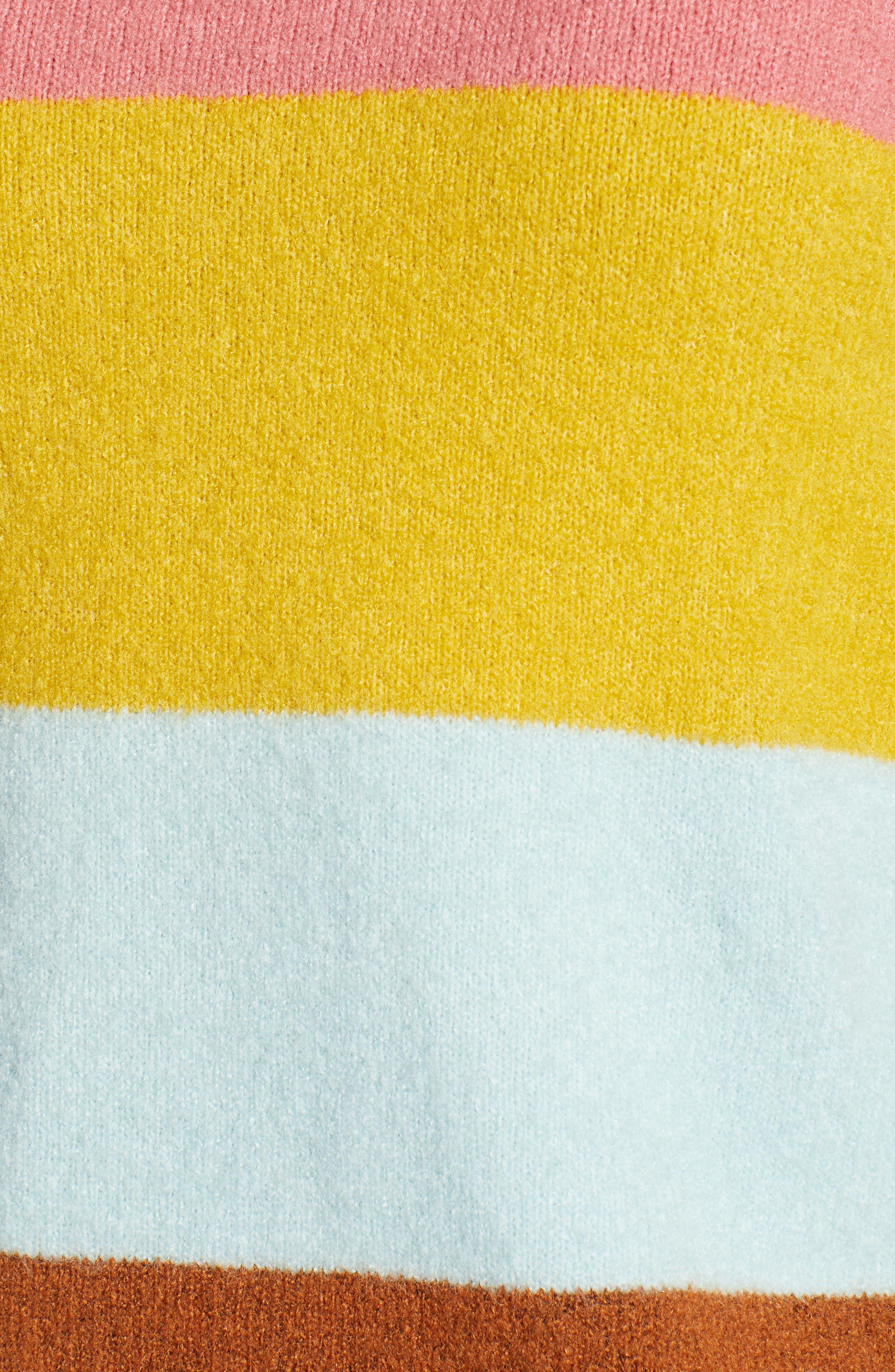 x Atlantic-Pacific Stripe Turtleneck Sweater,                             Alternate thumbnail 6, color,                             PINK MULTI STRIPE